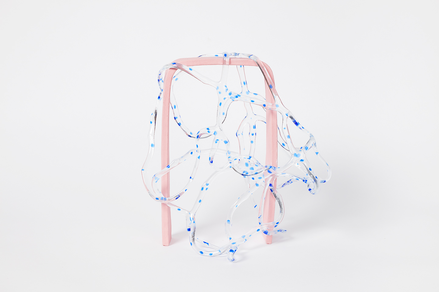 Arch Series; Blue Spot on Pink
