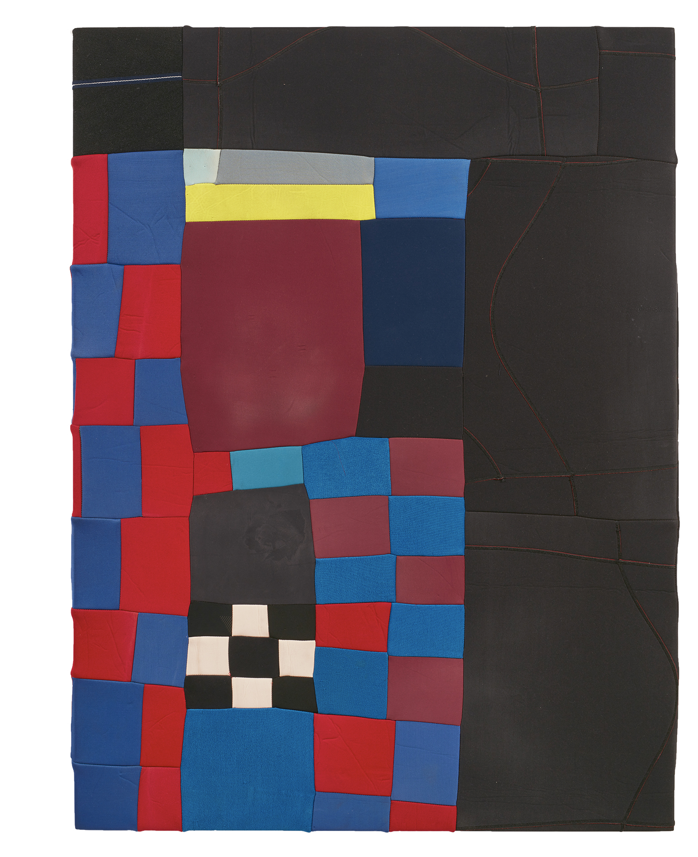 King of the Bowl with Francis Harsing  2019, stretched found neoprene, 142 x 106 cm