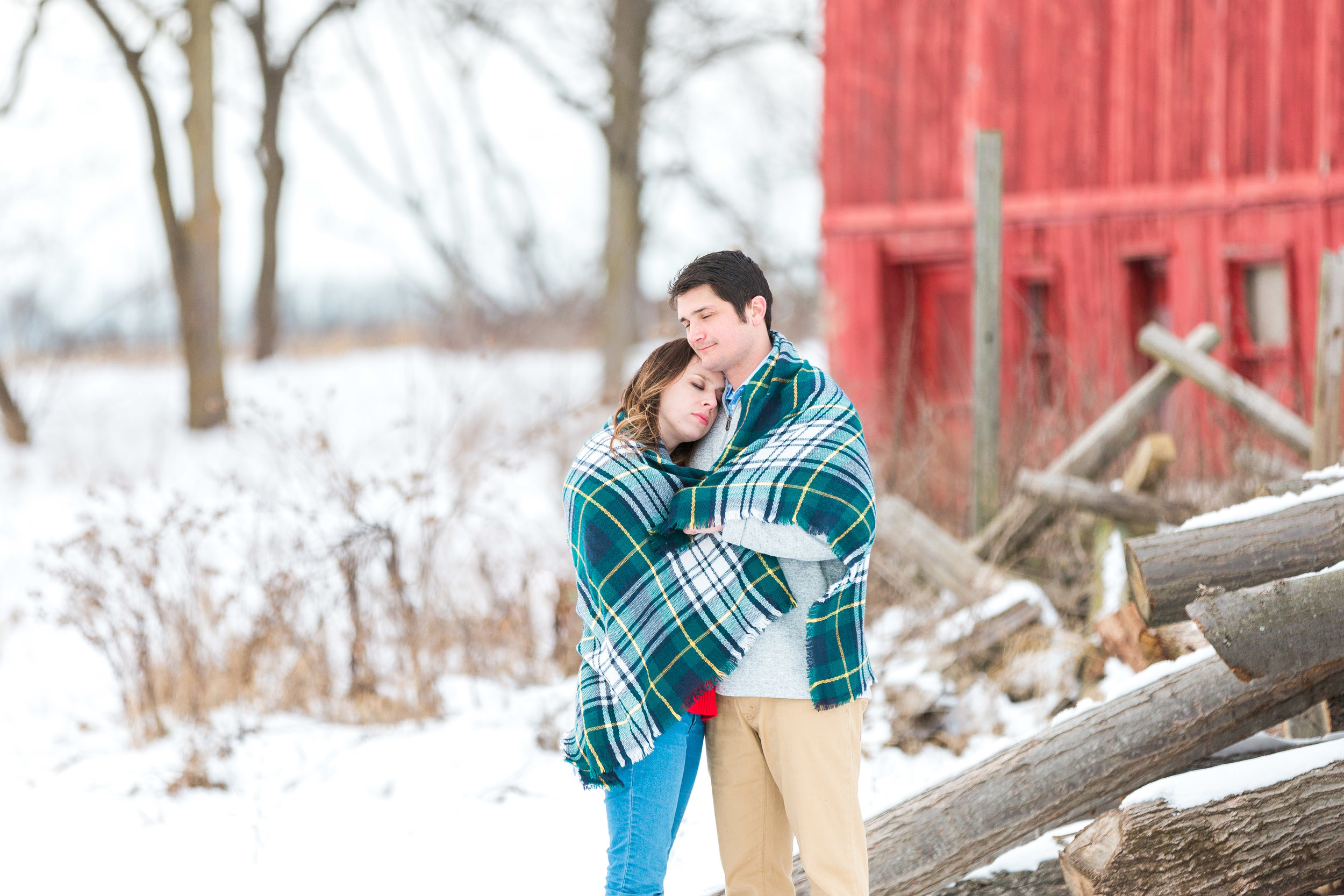 winter engagement session | couples | west michigan photographer