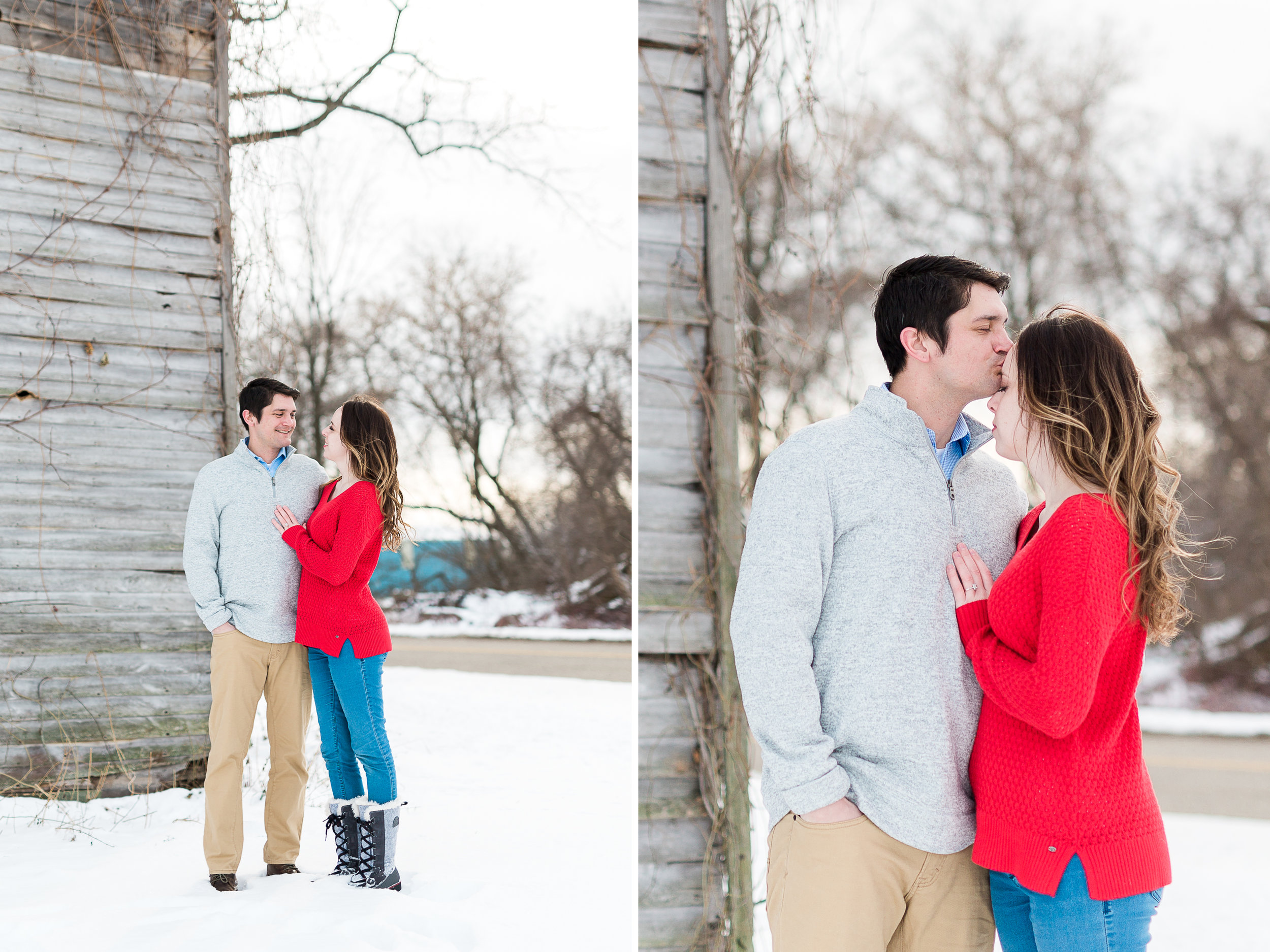 winter engagement session | couples