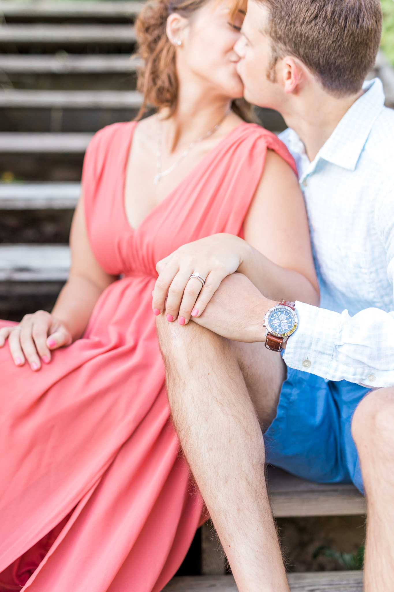 Romantic beach engagement session in West Olive Michigan | Laurenda Marie Photography