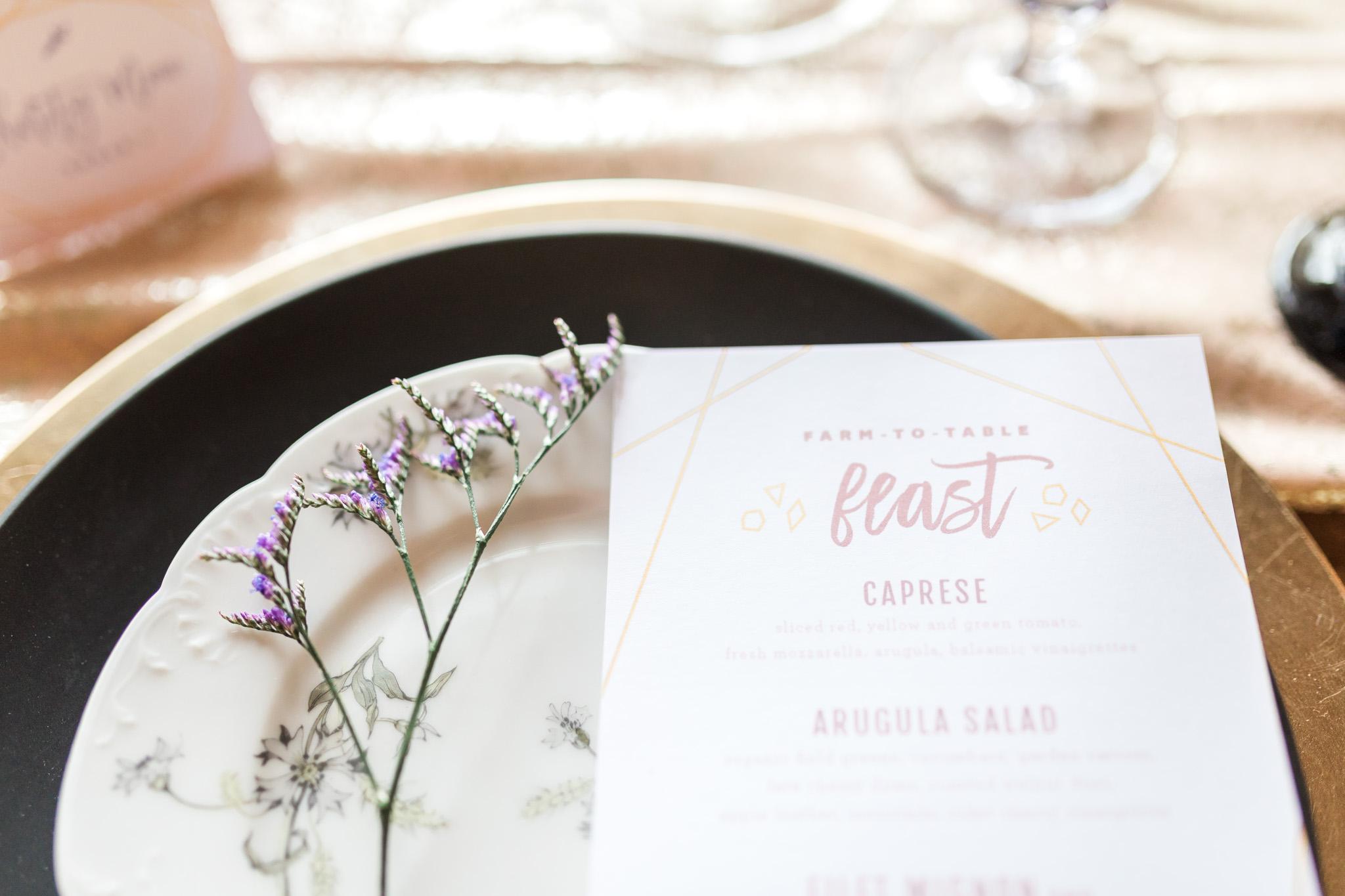 Styled Wedding Shoot at Gable Hill Barn | Elegant Chic Wedding | Laurenda Marie Photography | West Michigan Wedding Photographer