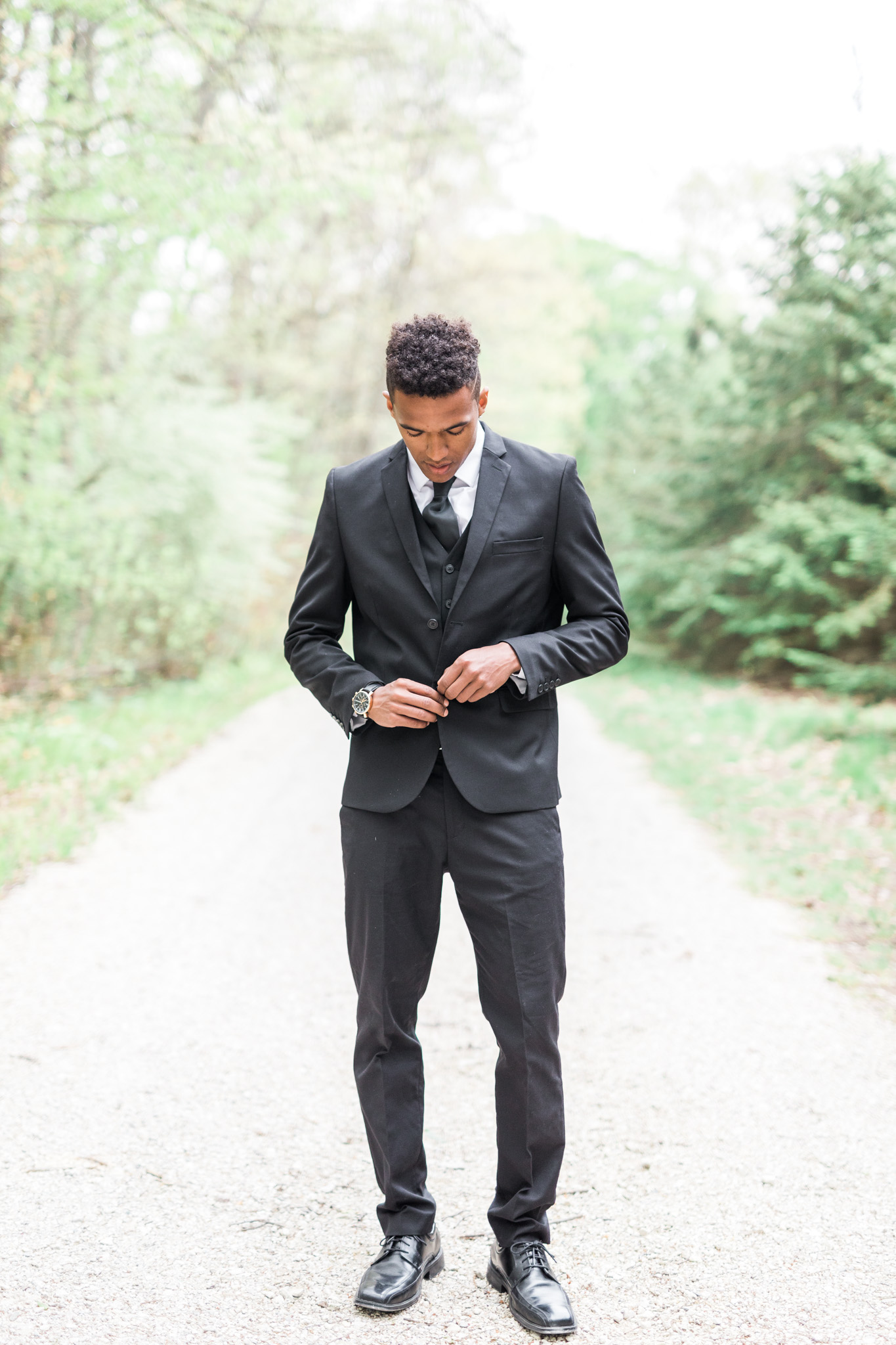 Groom Portrait | Styled Wedding Shoot at Gable Hill Barn | Elegant Chic Wedding | Laurenda Marie Photography | West Michigan Wedding Photographer |
