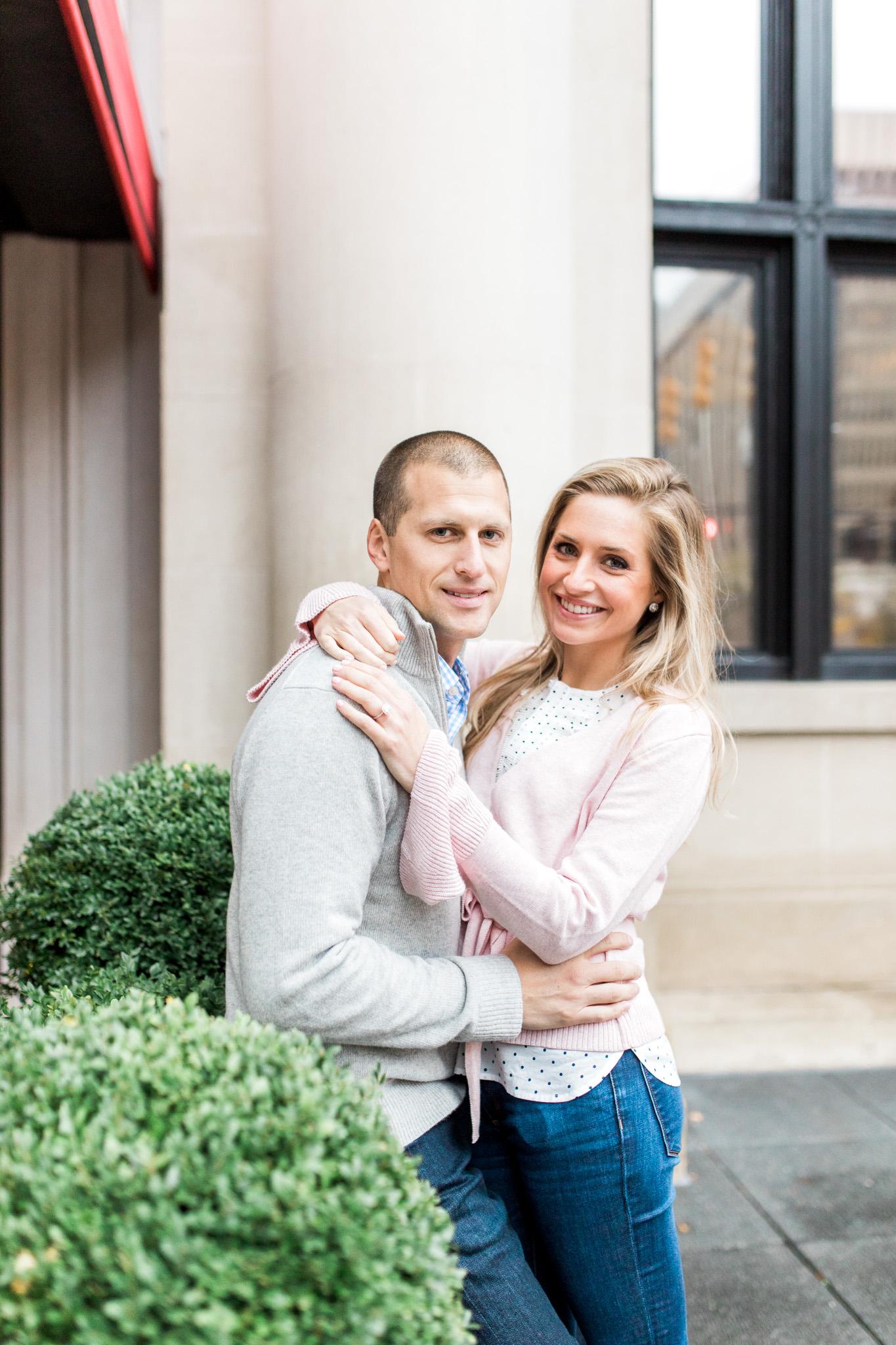 Romantic downtown engagement session | Laurenda Marie Photography | Grand Rapids, Michigan