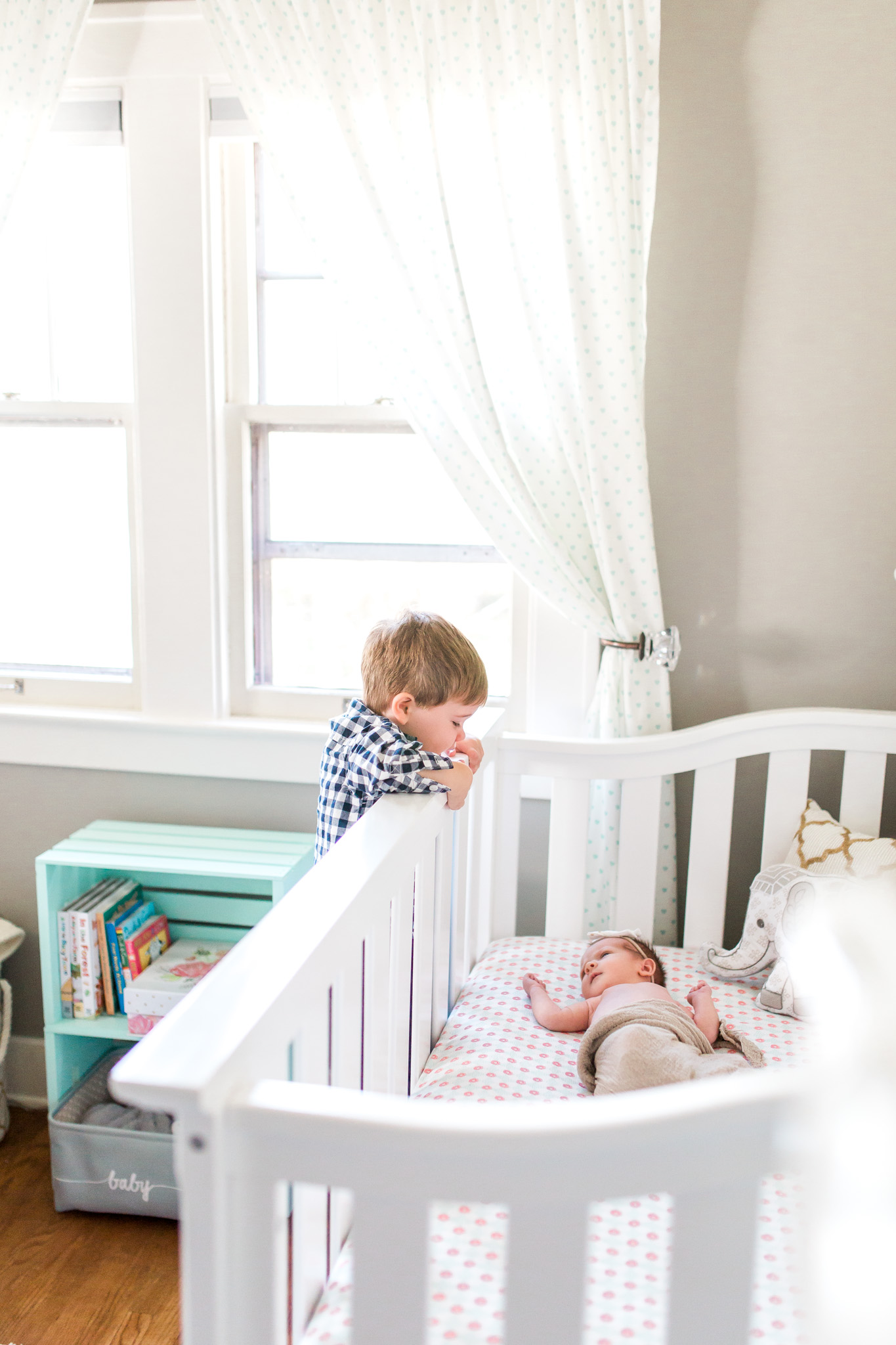 Natural Light Newborn Lifestyle Session | In-home session | Baby Girl | Nursery Inspiration | Laurenda Marie Photography