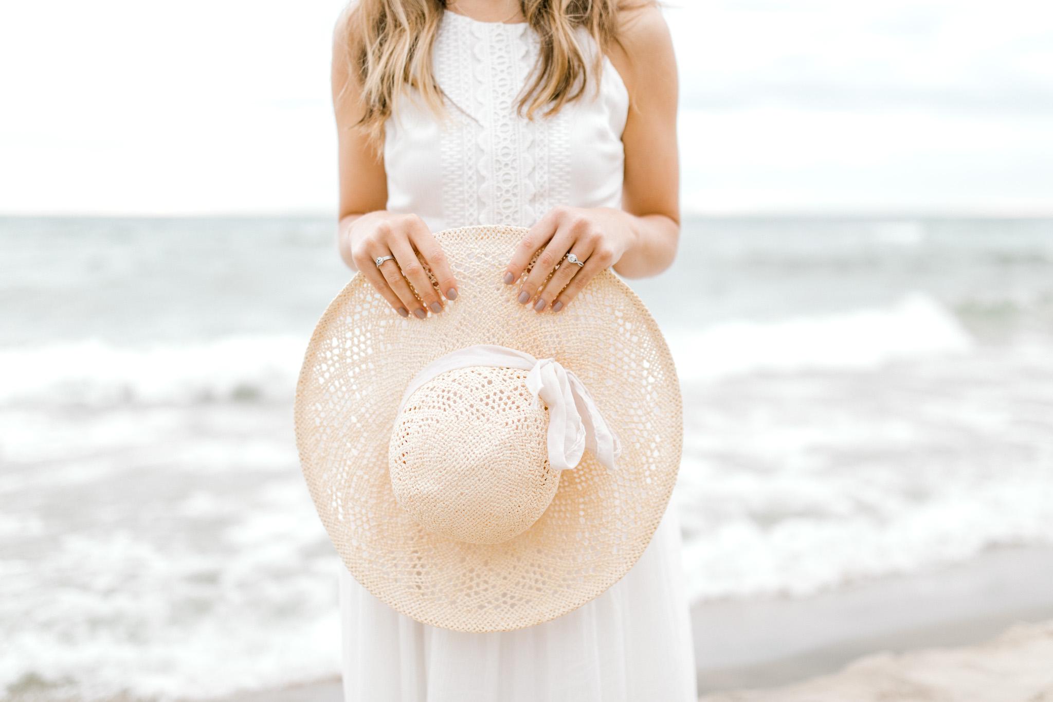 Dreamy Lake Michigan Beach Session | West Michigan Engagement | Cloudy Beach Session | Laurenda Marie Photography | West Michigan Wedding Photographer