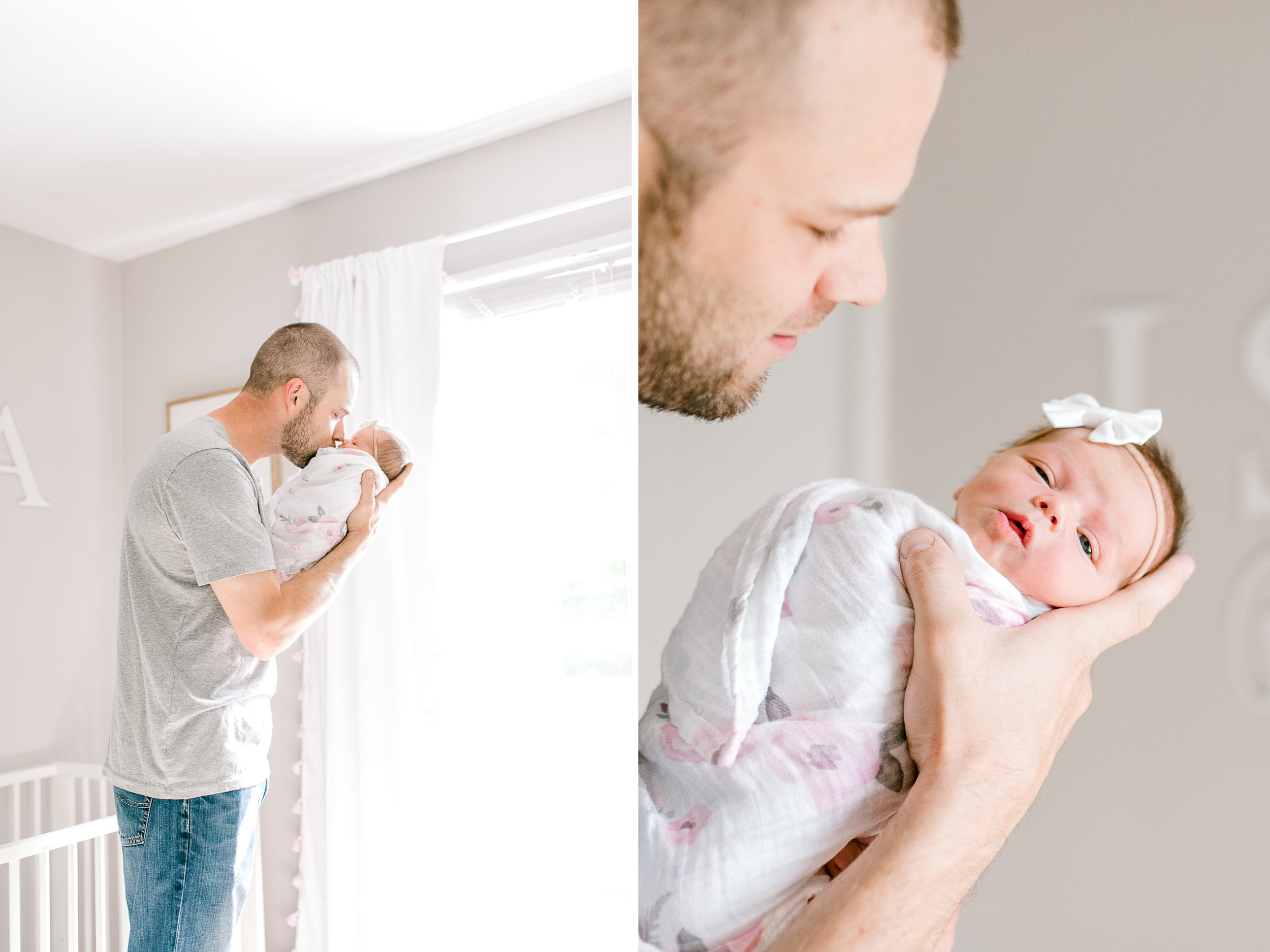 Light & Airy In-Home Newborn Lifestyle Session   Neutral Baby Girl Floral Nursery   Natural Light Lifestyle Session   Laurenda Marie Photography   West Michigan