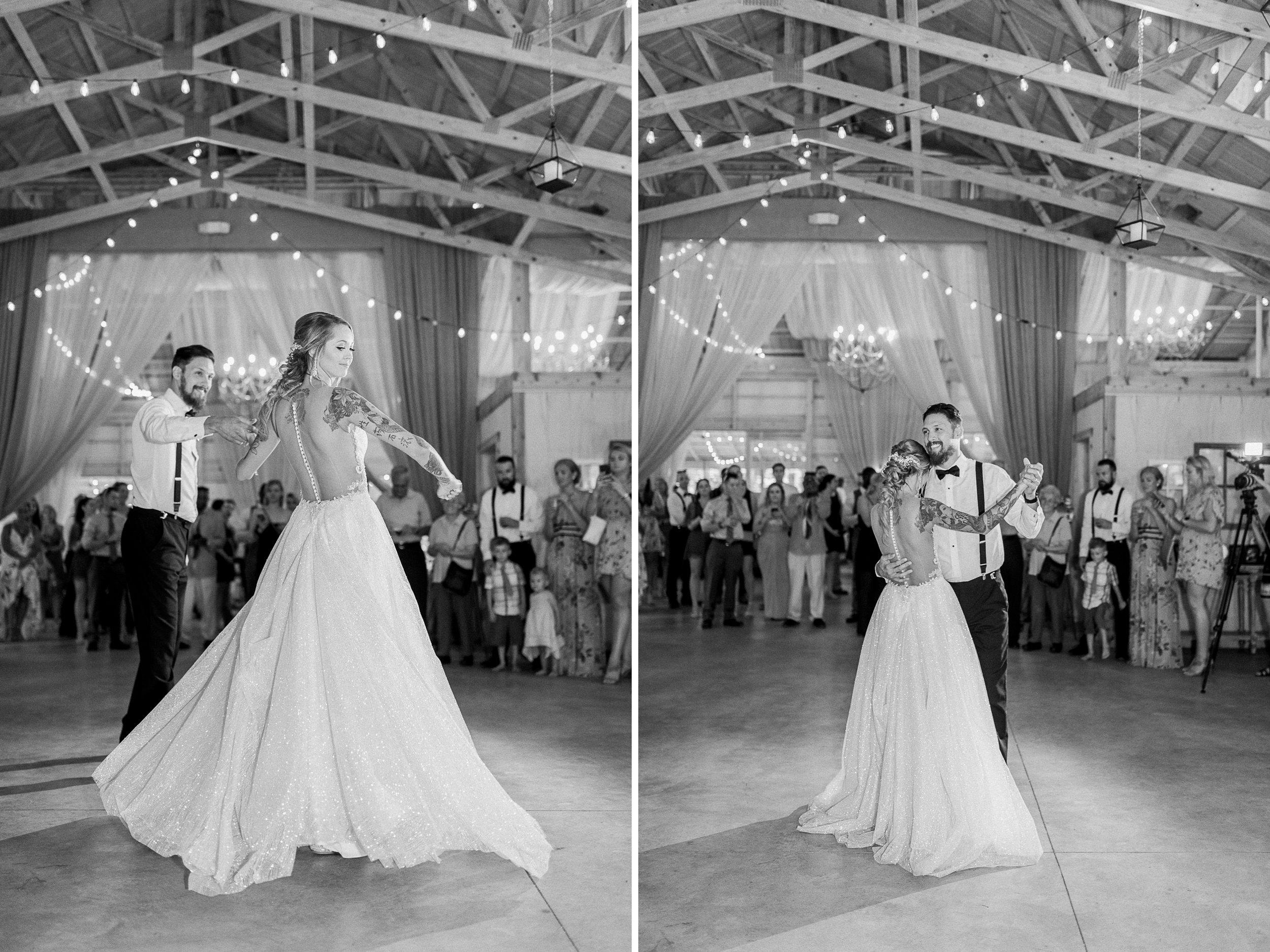 Fairytale Wedding In the Woods | Beauty and the Beast themed Wedding | Barn Wedding Reception | Low Back Wedding Dress | Light & Airy Wedding Photography | West Michigan Wedding Photographer