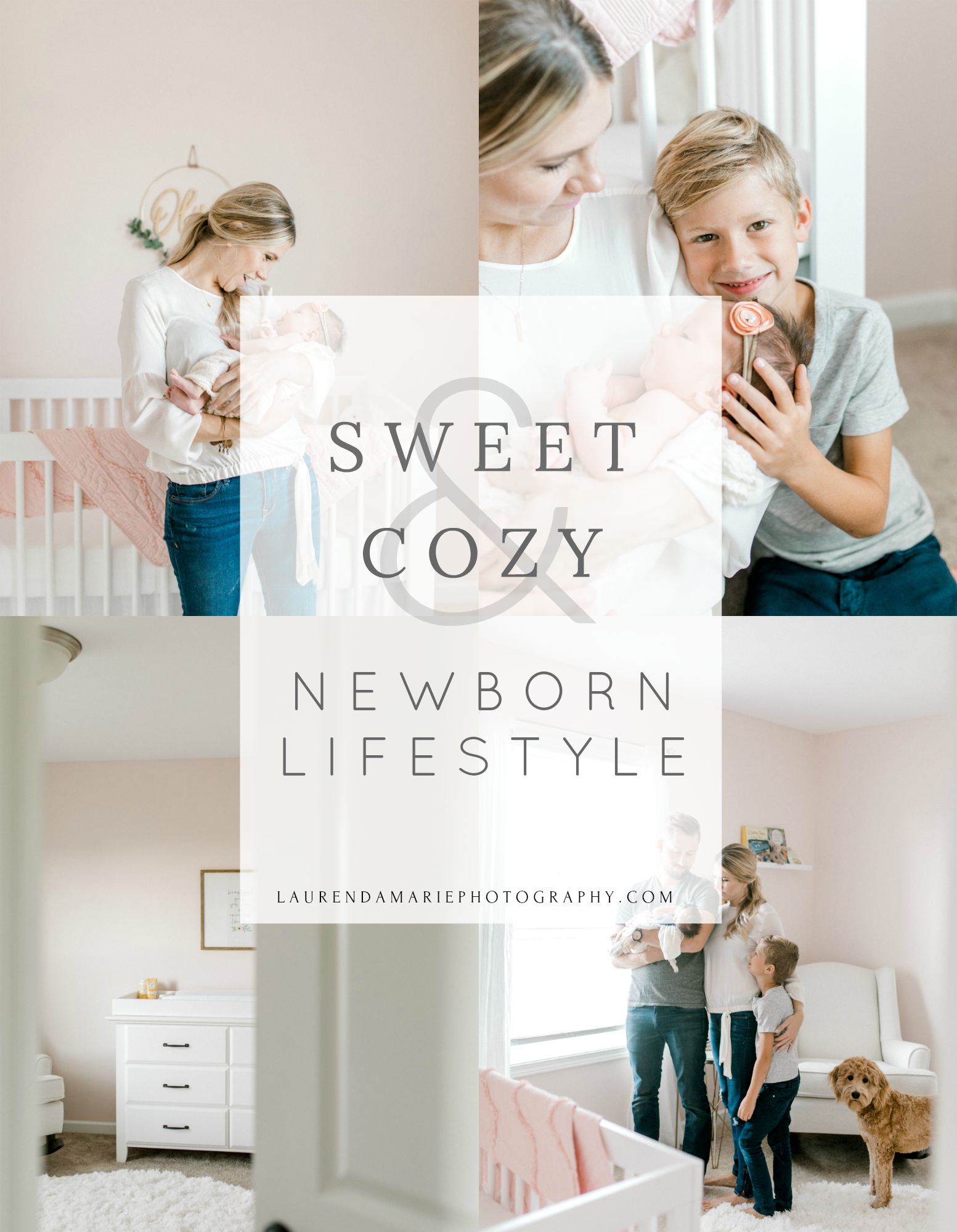 Blush Pink Baby Girl Nursery | Light & Airy Nursery | White, Pink, and Gold Nursery | In-Home Newborn Lifestyle Session | Lifestyle Photography | Laurenda Marie Photography | West Michigan Lifestyle Photographer