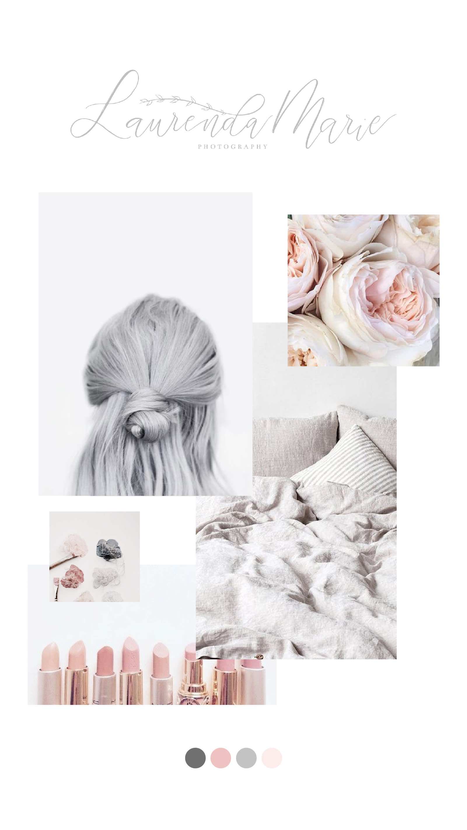 Laurenda Marie Photography 2018 mood board | Light & Airy Photography Rebrand | Emma Rose Company