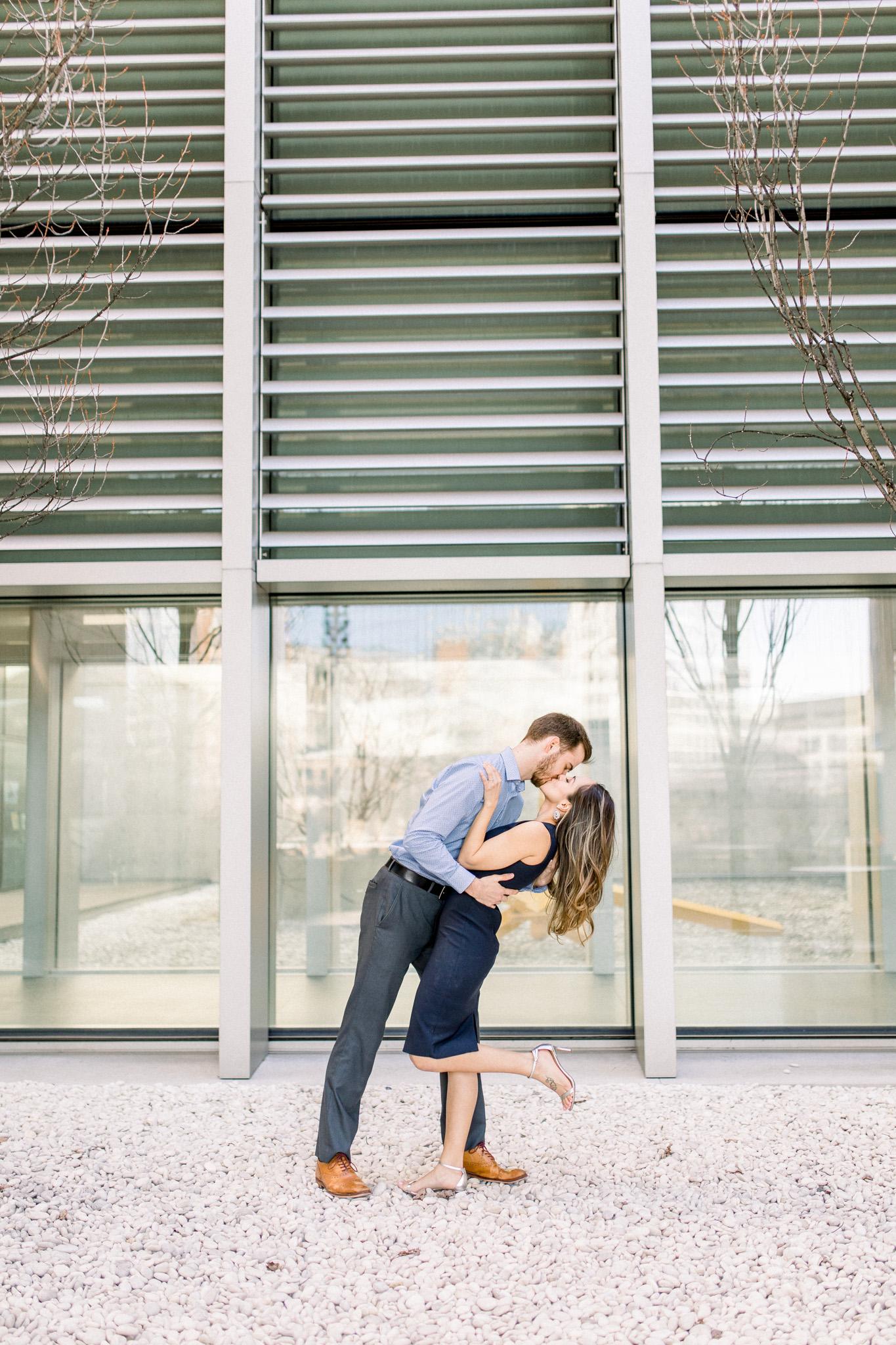 Romantic Engagement Session in the City | Grand Rapids Wedding Photographer | Elegant Engagement | Laurenda Marie Photography