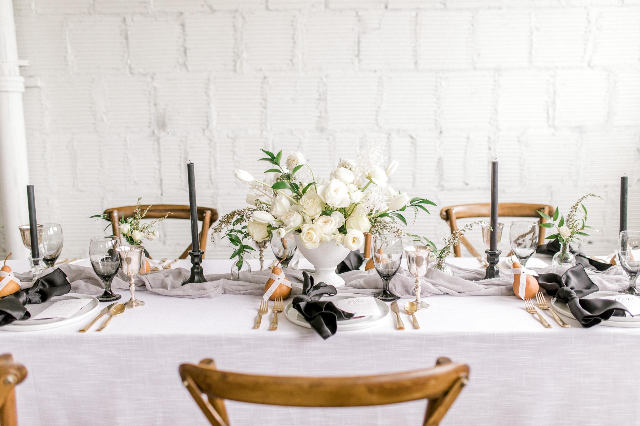 Styled Wedding Workshop | Champagne Bridesmaids Dresses | Edgy Romantic Wedding | West Michigan Wedding Photographer