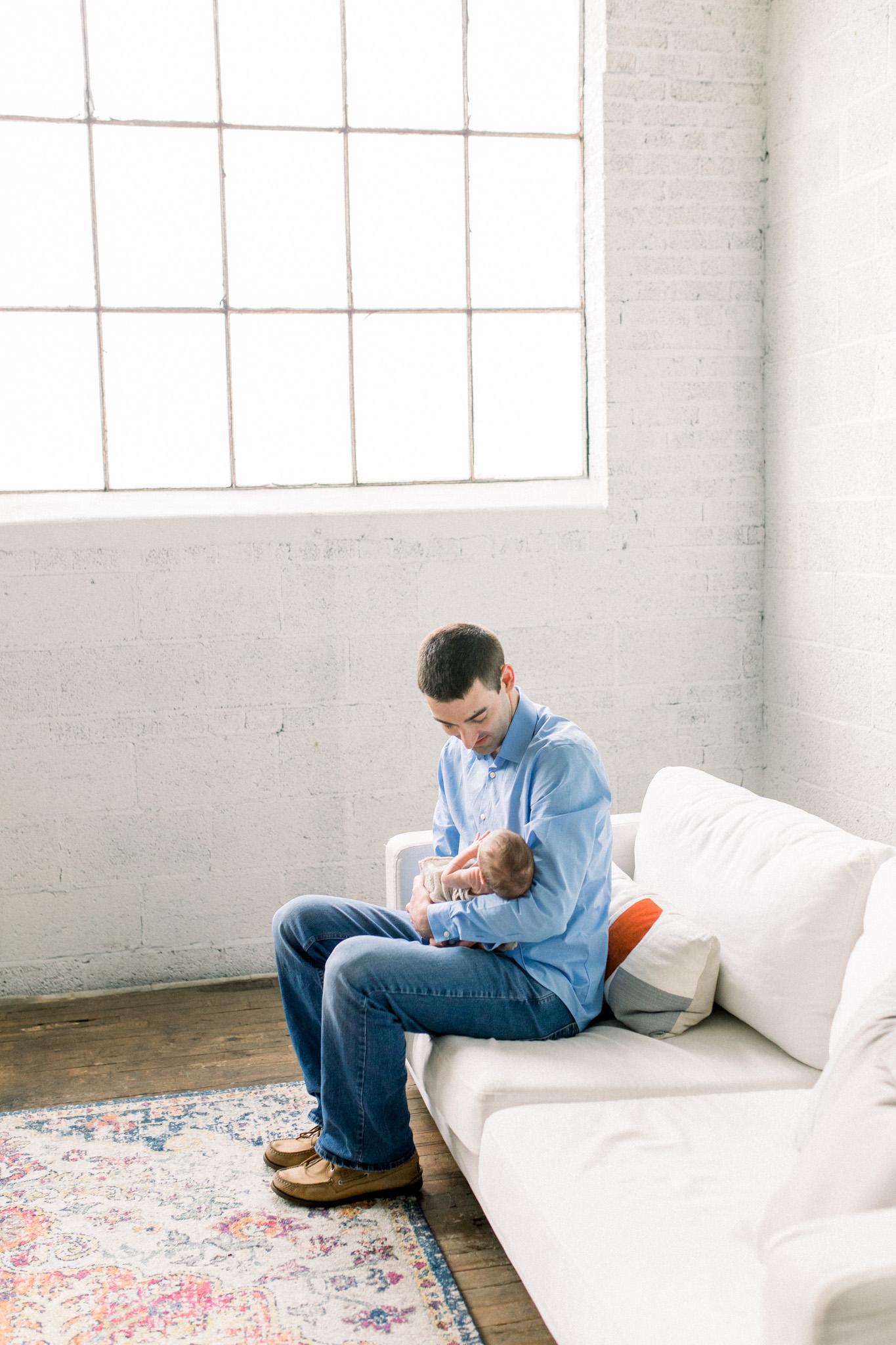 Newborn Lifestyle Session with Baby Boy | Grand Rapids Newborn Lifestyle Photographer | West Michigan