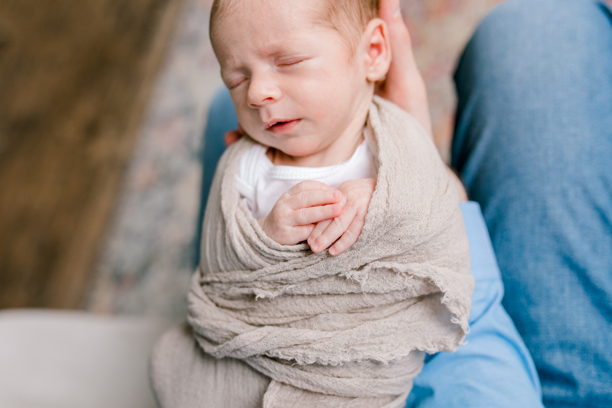 Newborn Lifestyle Session with Baby Boy | Grand Rapids Newborn Lifestyle Photographer | West Michigan