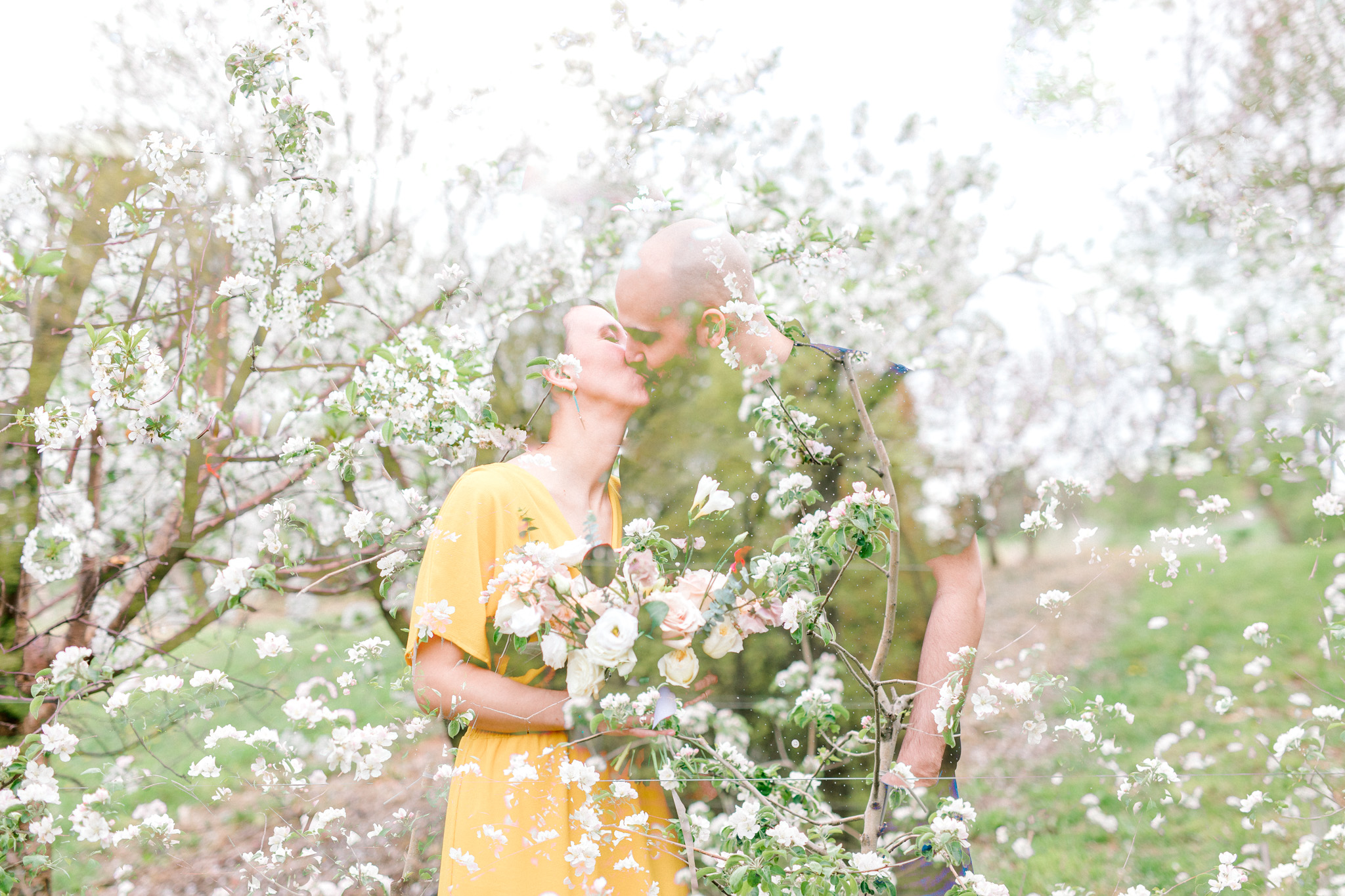 Spring Engagement Session Double Exposure