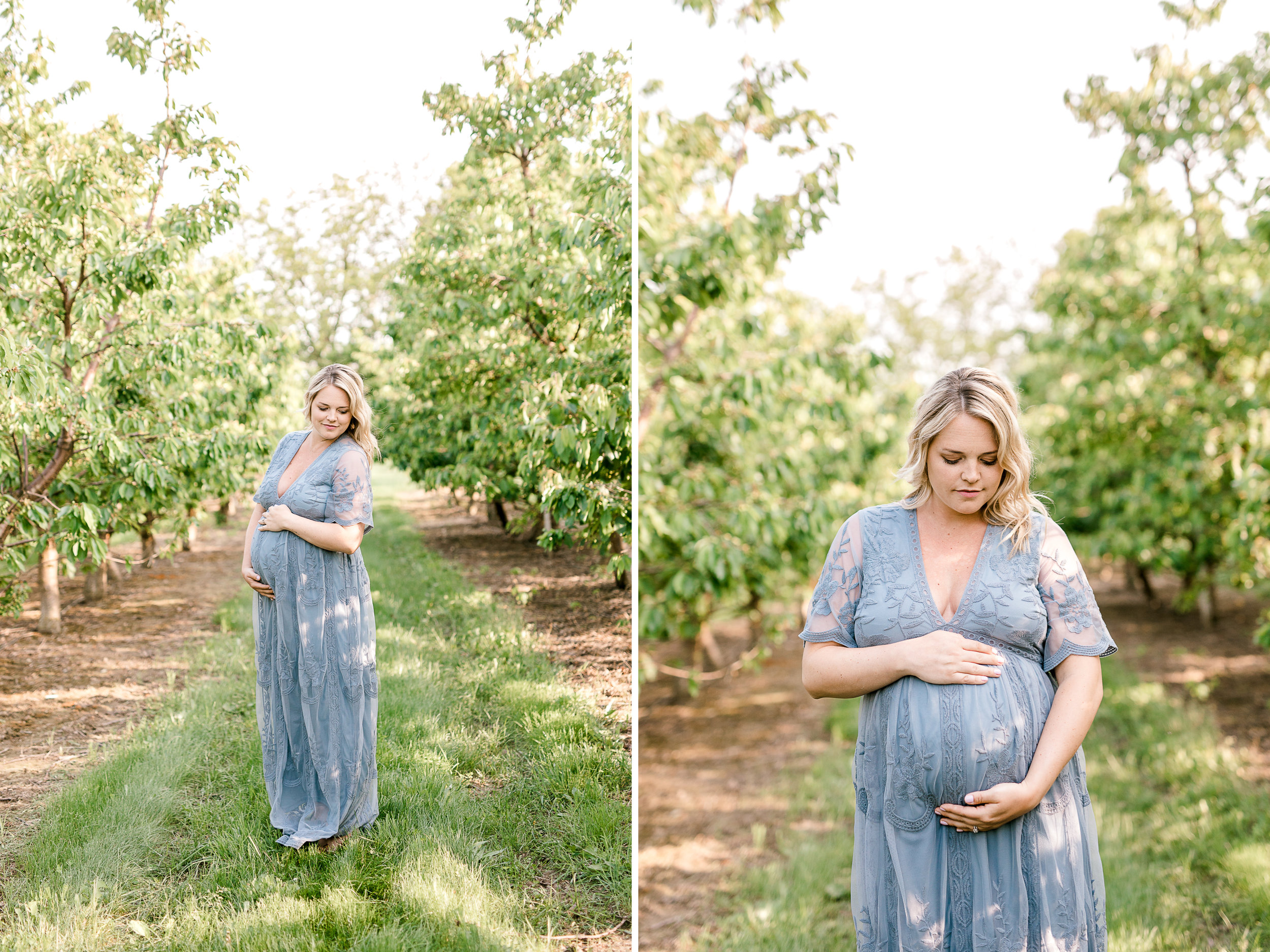 Golden Hour Maternity Session at the Orchard | What to Wear to your Maternity Session | Grand Rapids Family Lifestyle Photographer