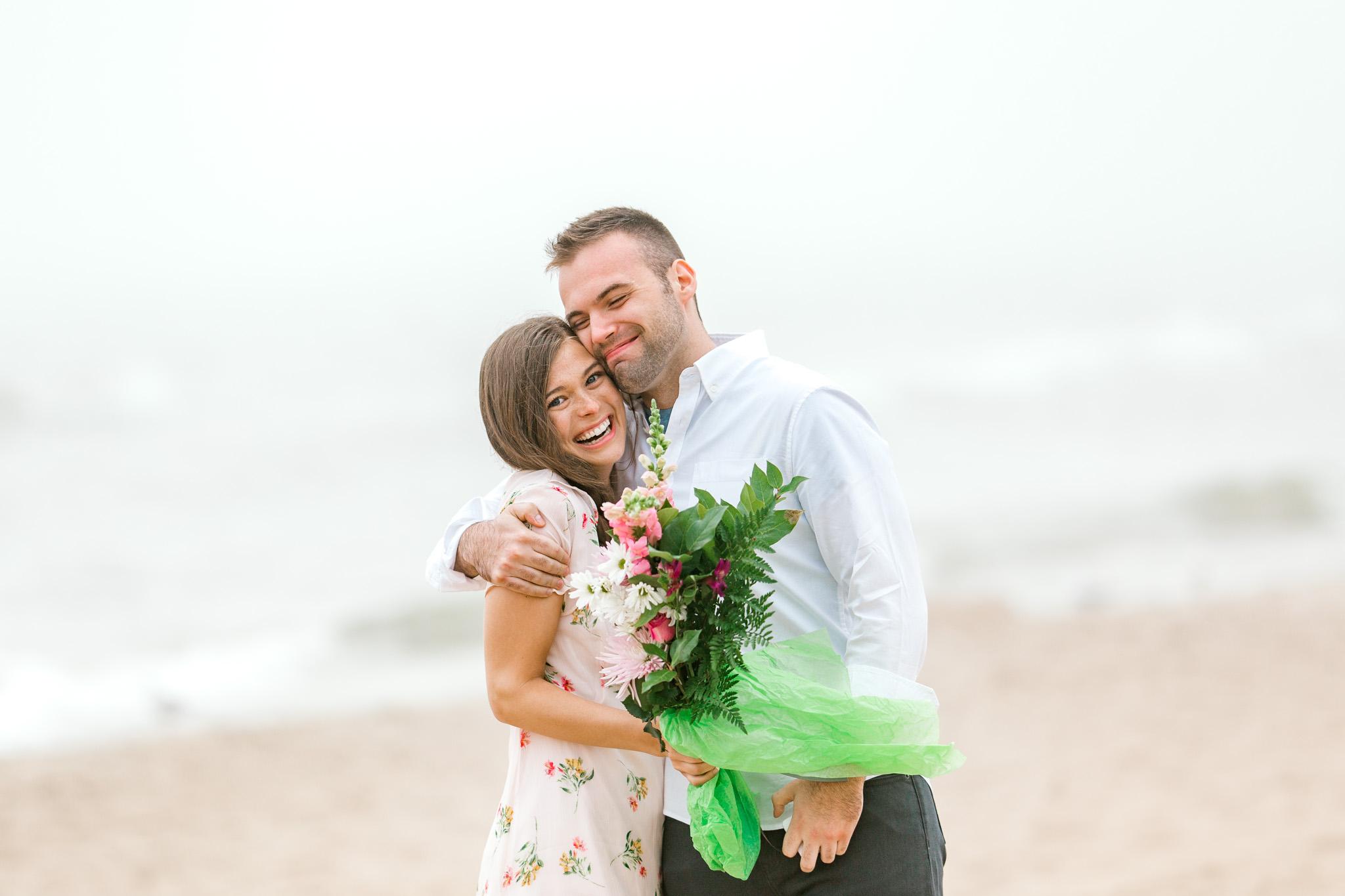 Romantic Surprise Proposal on Lake Michigan