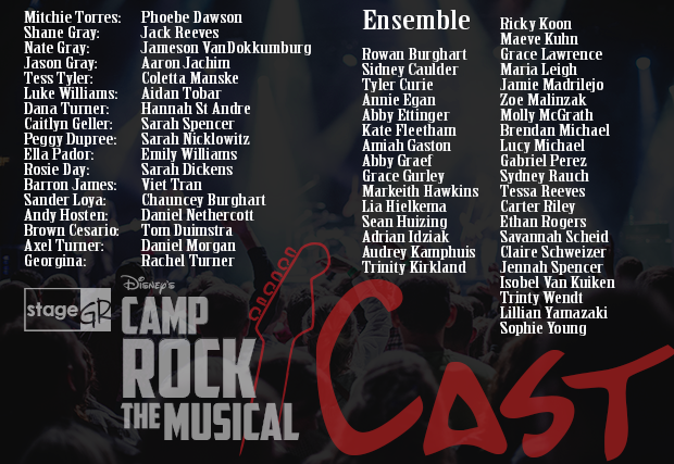 Here's the cast list!