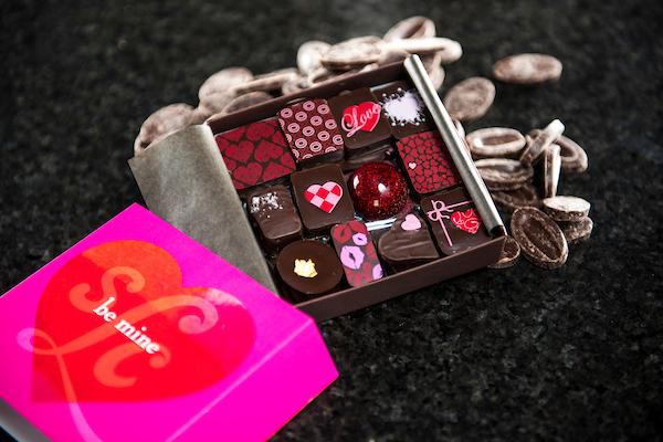 Valentine chocolate box picture