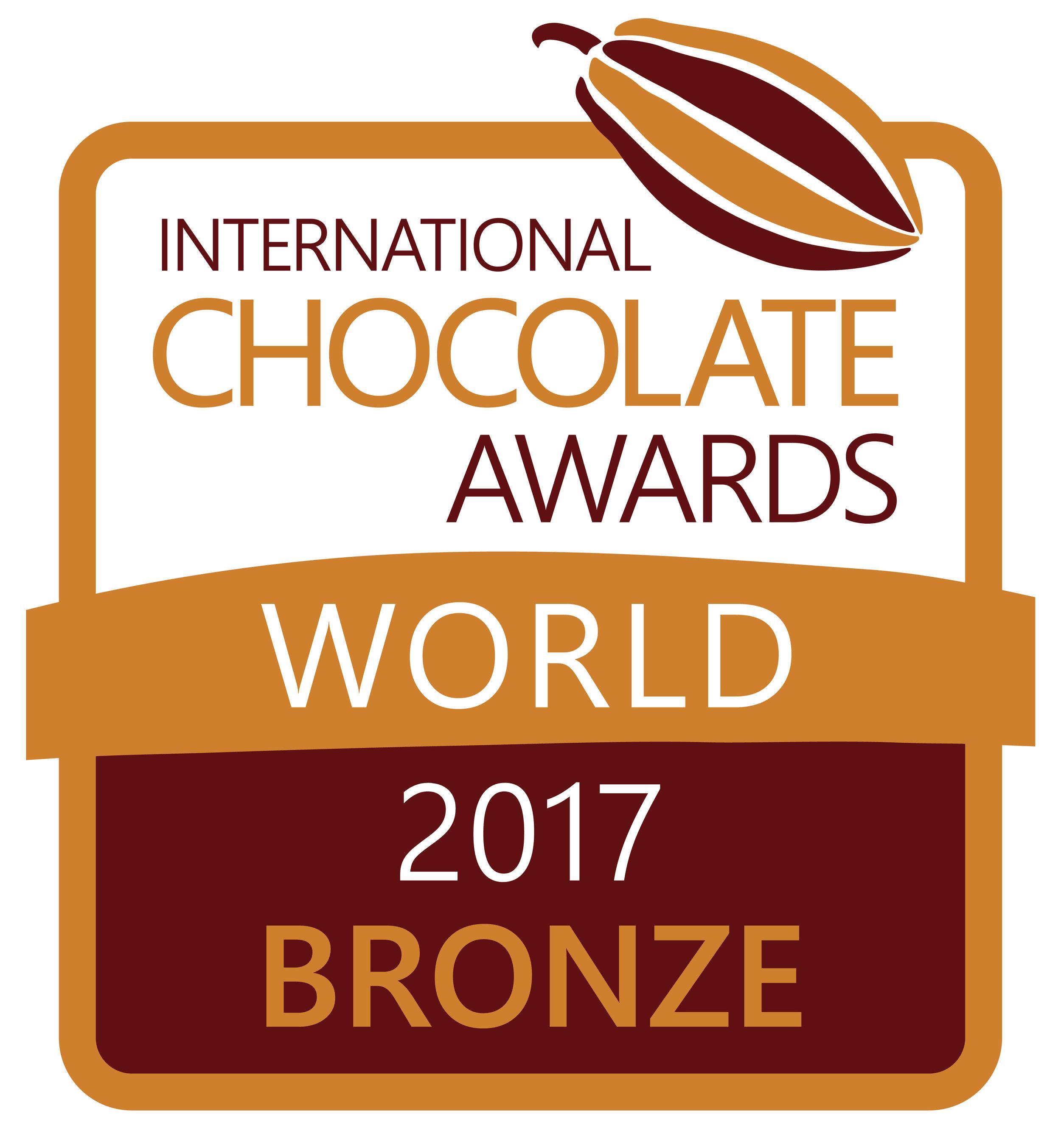 International Chocolate Award Bronze winner 2017