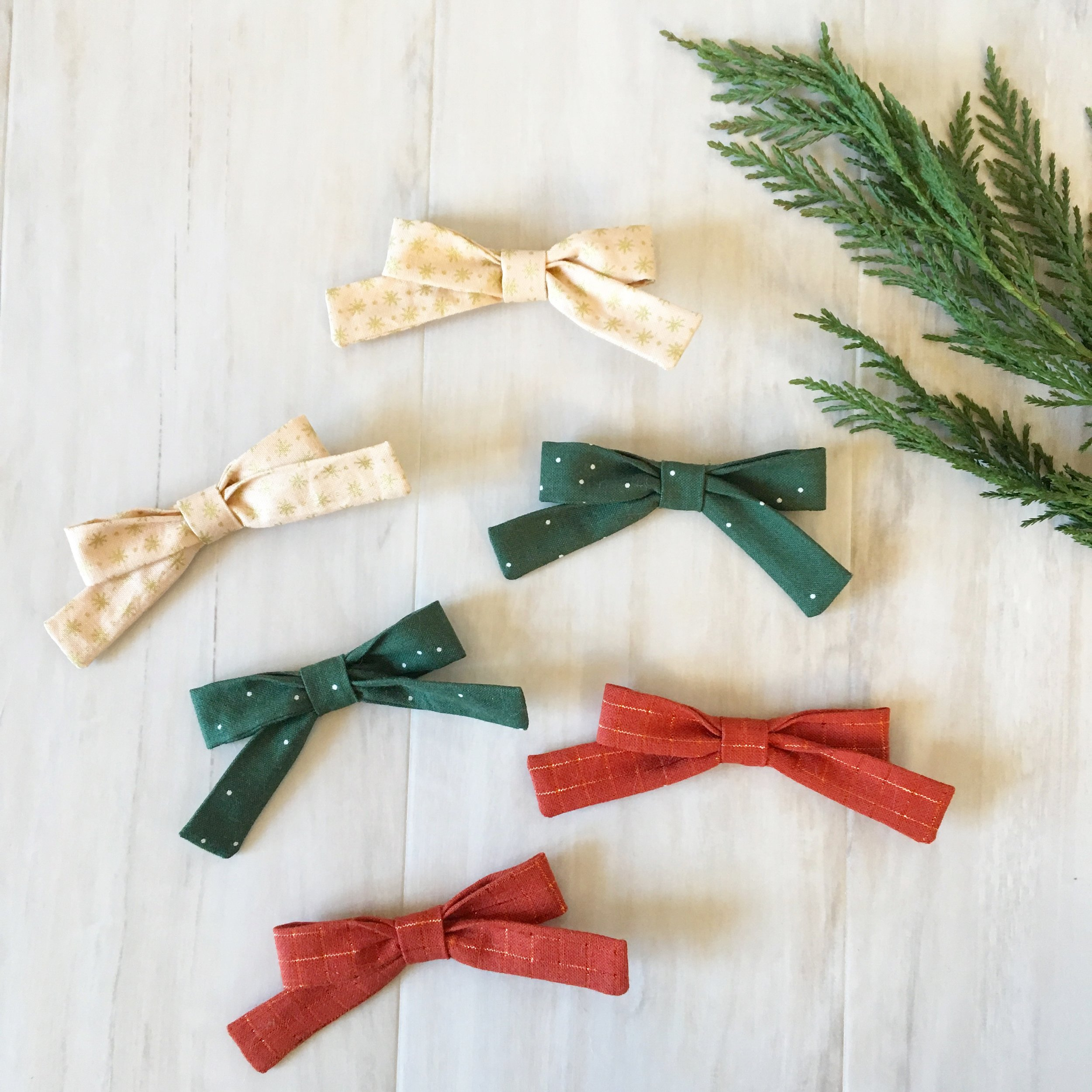 Classic Hair Bows and Top-Knot Headwraps - $10  CLICK ON IMAGE TO PURCHASE!