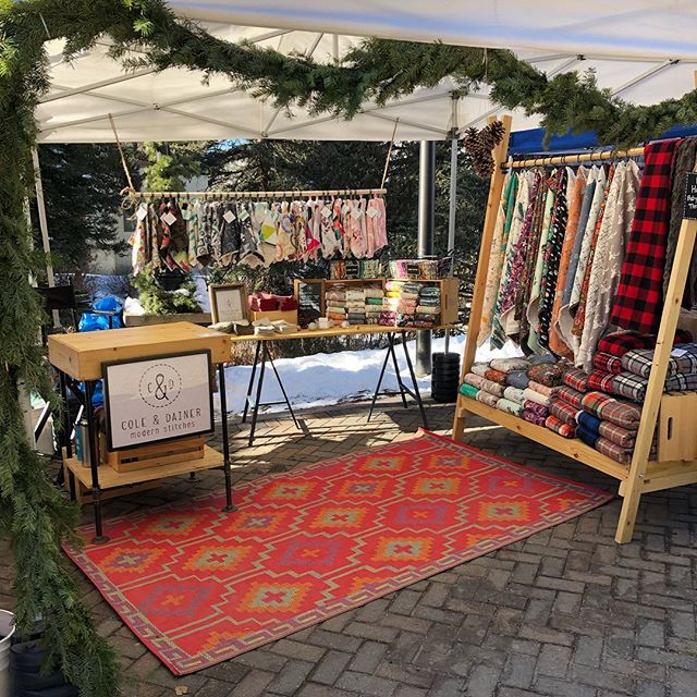 It's a beautiful day in the village! Come see us at the Kris Kringle Market today until 3:30 and tomorrow from 11:00-3:30. #vailvillage #kriskringle #holidaymarket #mountainsunshine #coloradomade #handcrafted #shopsmall #shoplocal #blanketsfordays #coleanddainer