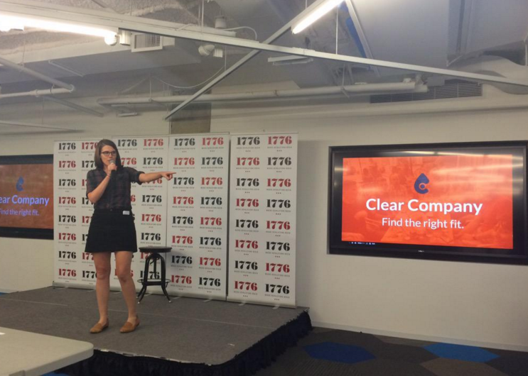 Pitching Clear Company at Startup Weekend Flip the Ratio