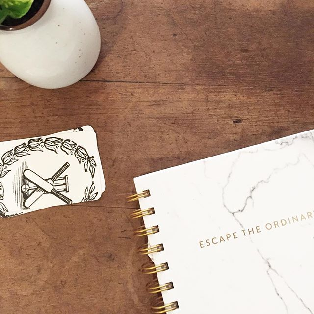 Monday Motivation - Escape the Ordinary ✨ . . . #café #coffee #coffeetime #coffeeshop #coffeelover #work #greenery #wood #stationery #minimalist #simplistic #papergoods #dreamer #dreambig #goals #interiors #style #illustration #illustrator #fashion #creative #mondaymotivation #monday