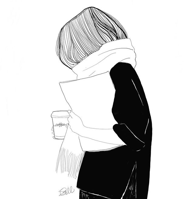 Coffee is a must for the daily grind 😉☕️ . . . #motivation #riseandgrind #hustle #work #girlboss #fashion #fashionart #fashionblogger #styleblogger #style #draw #sketch #blackandwhite #coffee #tea #fall #fallfashion #cozy #scarf #digitalart #artistsoninstagram #illustrator #fashionillustration #november #wednesday #minimalist #monochrome #instagood #instaart #travel