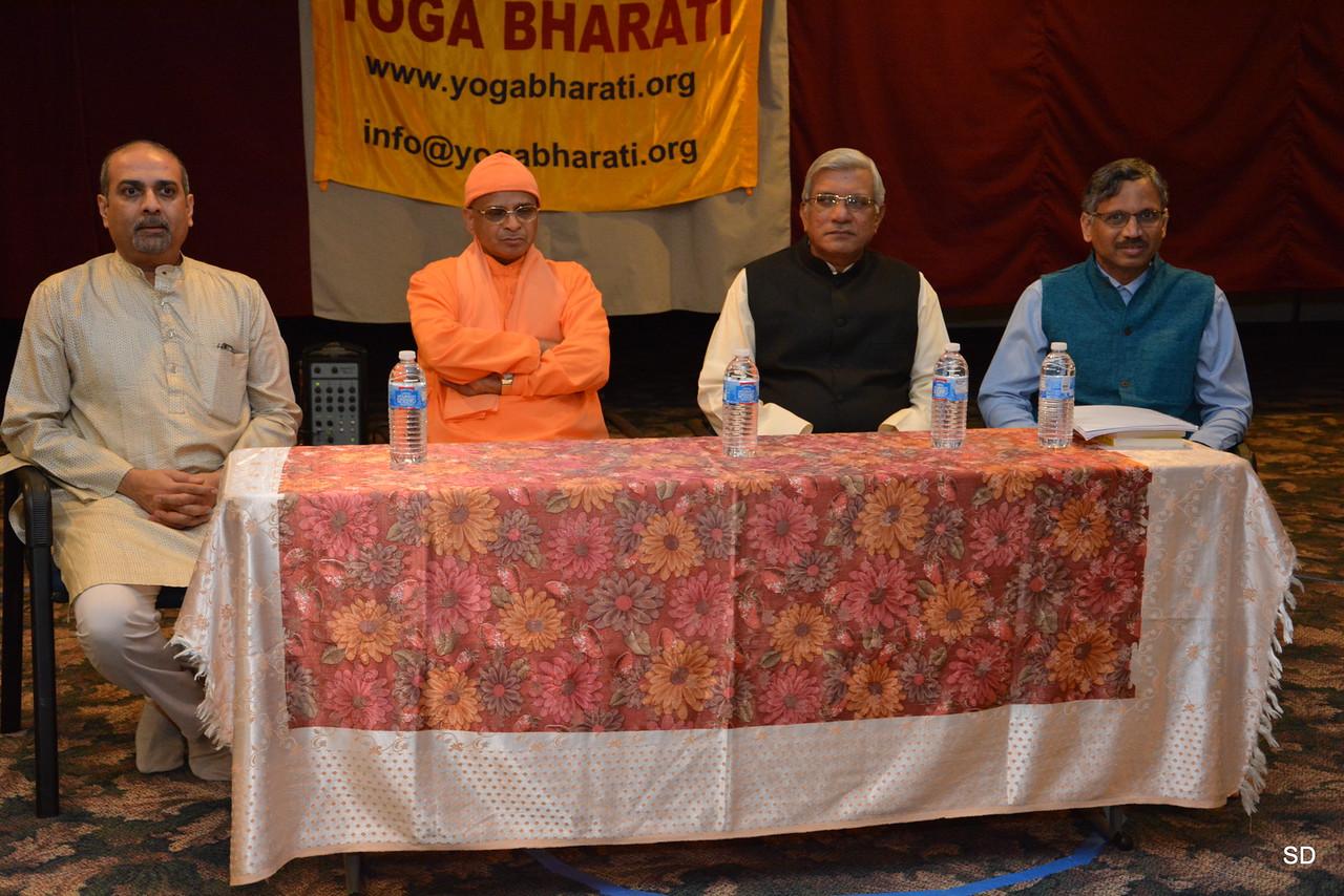 Diaz members - Anil Surpur, Swami Tattwamayananda, Raghuramji, and Dr. Prasad Kaipa,
