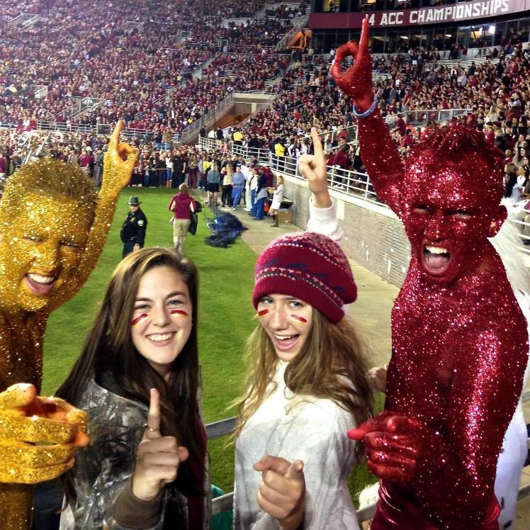 garnet and gold boys at Florida State University football game