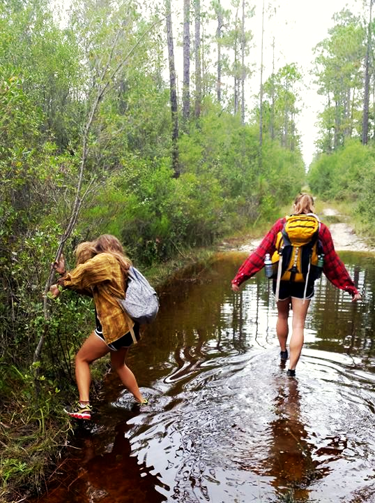 flooded APALACHICOLA NATIONAL FOREST △ FLORIDA NATIONAL SCENIC TRAIL