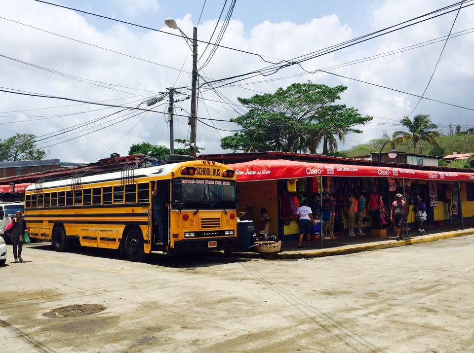 Chicken Bus in San Juan del Sur