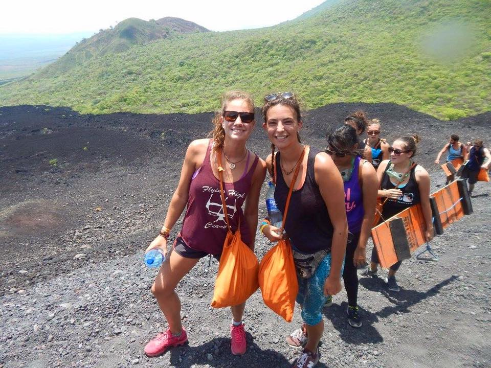 Billy and I on Cerro Negro