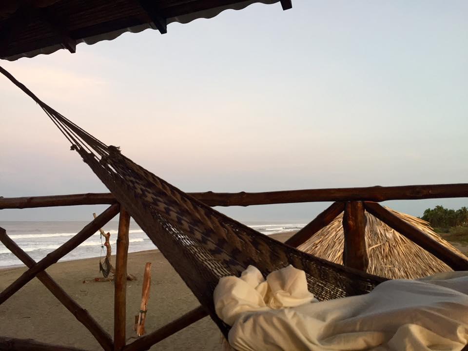 Waking up in my hammock.