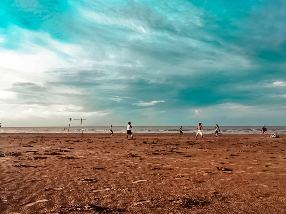 Locals play soccer - Ometepe Island, Nicaragua