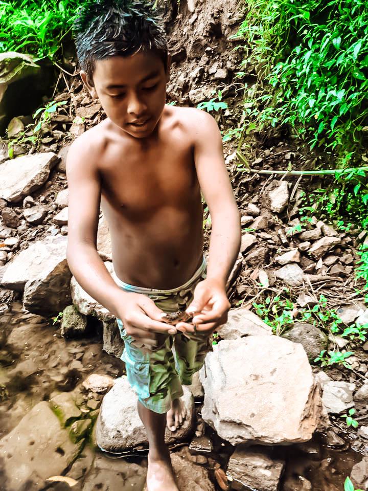 local at san ramon waterfall, Ometepe Island, Nicaragua