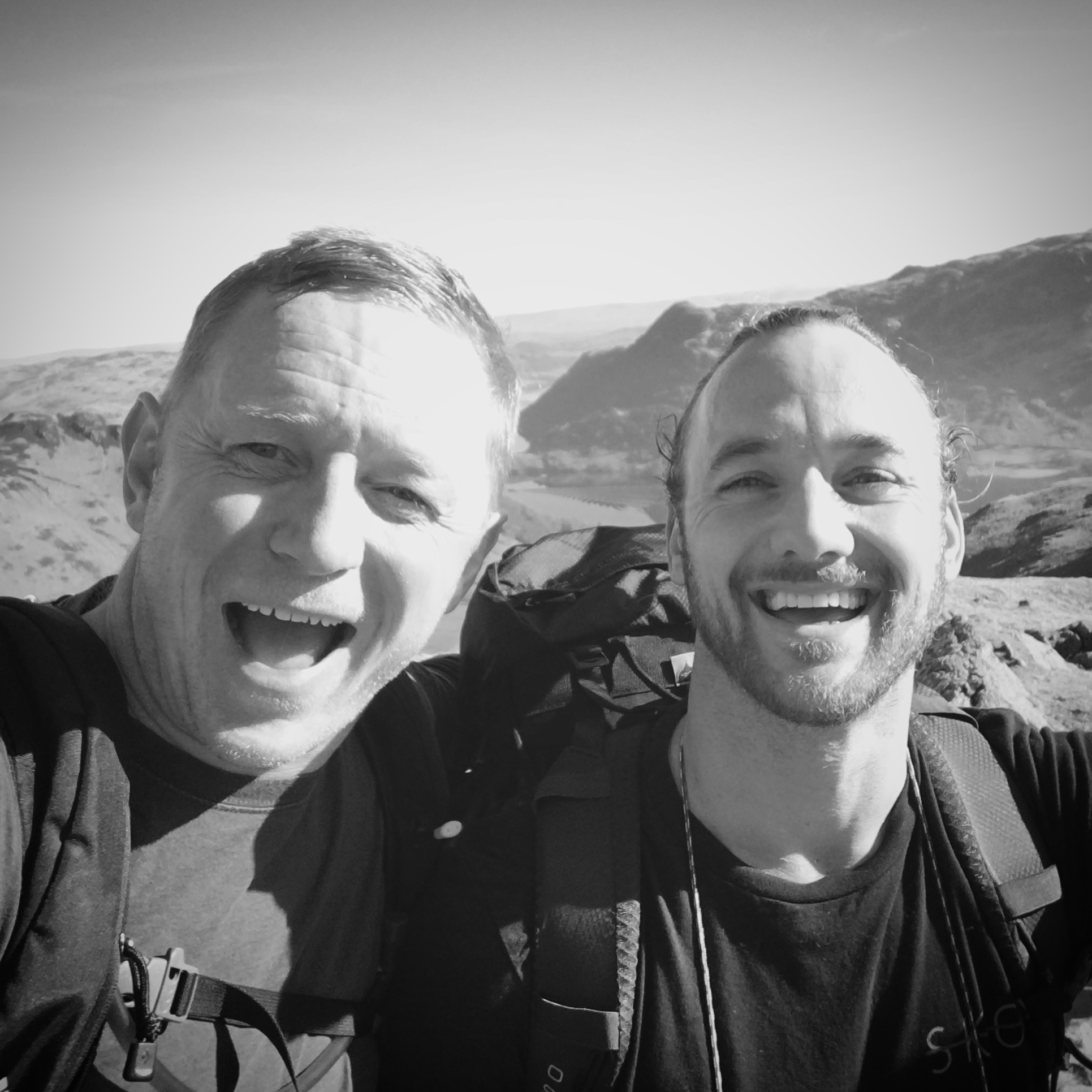The Strength Temple Directors, Rich Davis & Richie Norton on their way to summit Helvellyn, The Lake District, England.