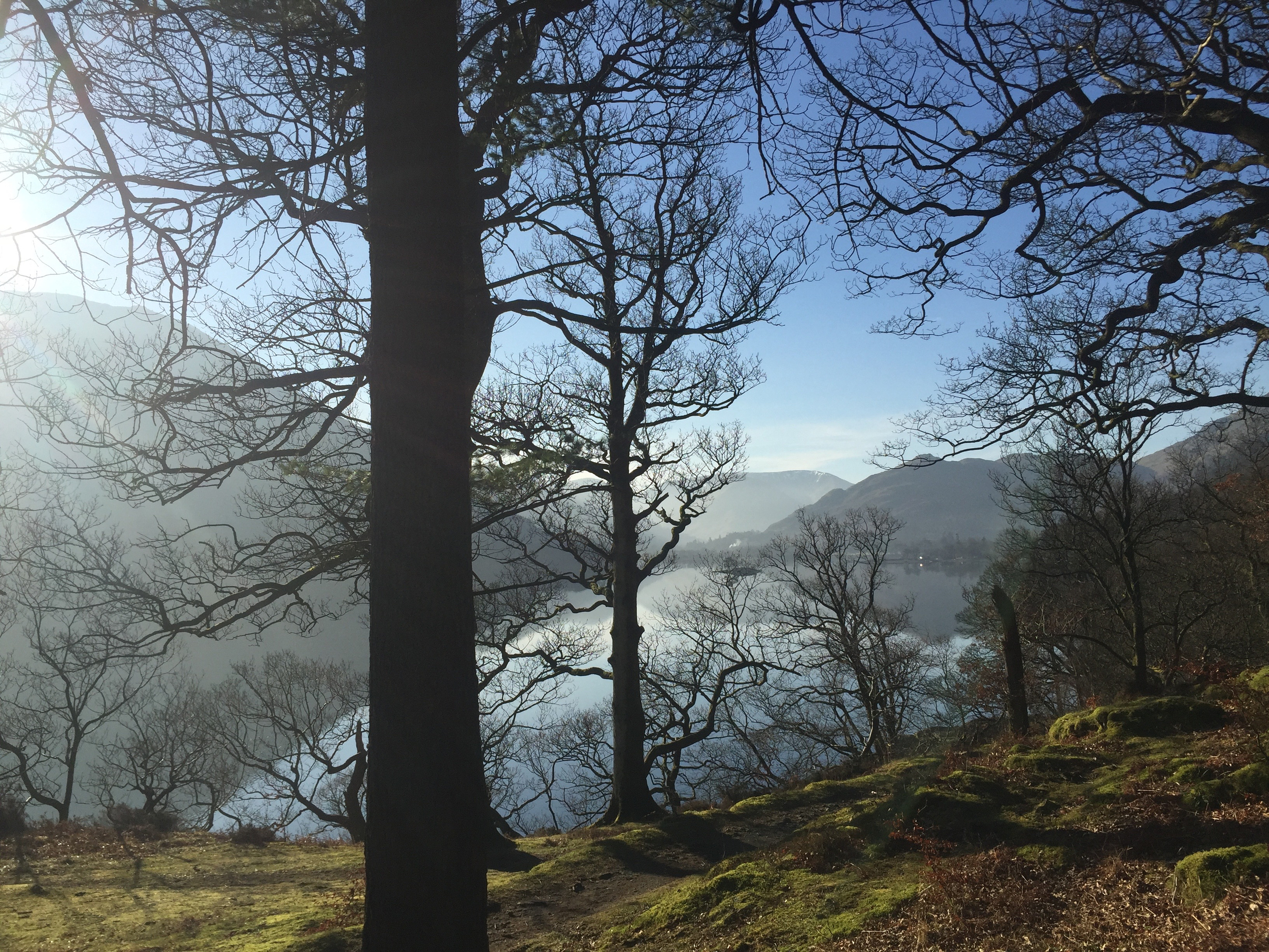 View across Ullswater; The Lake District, England.