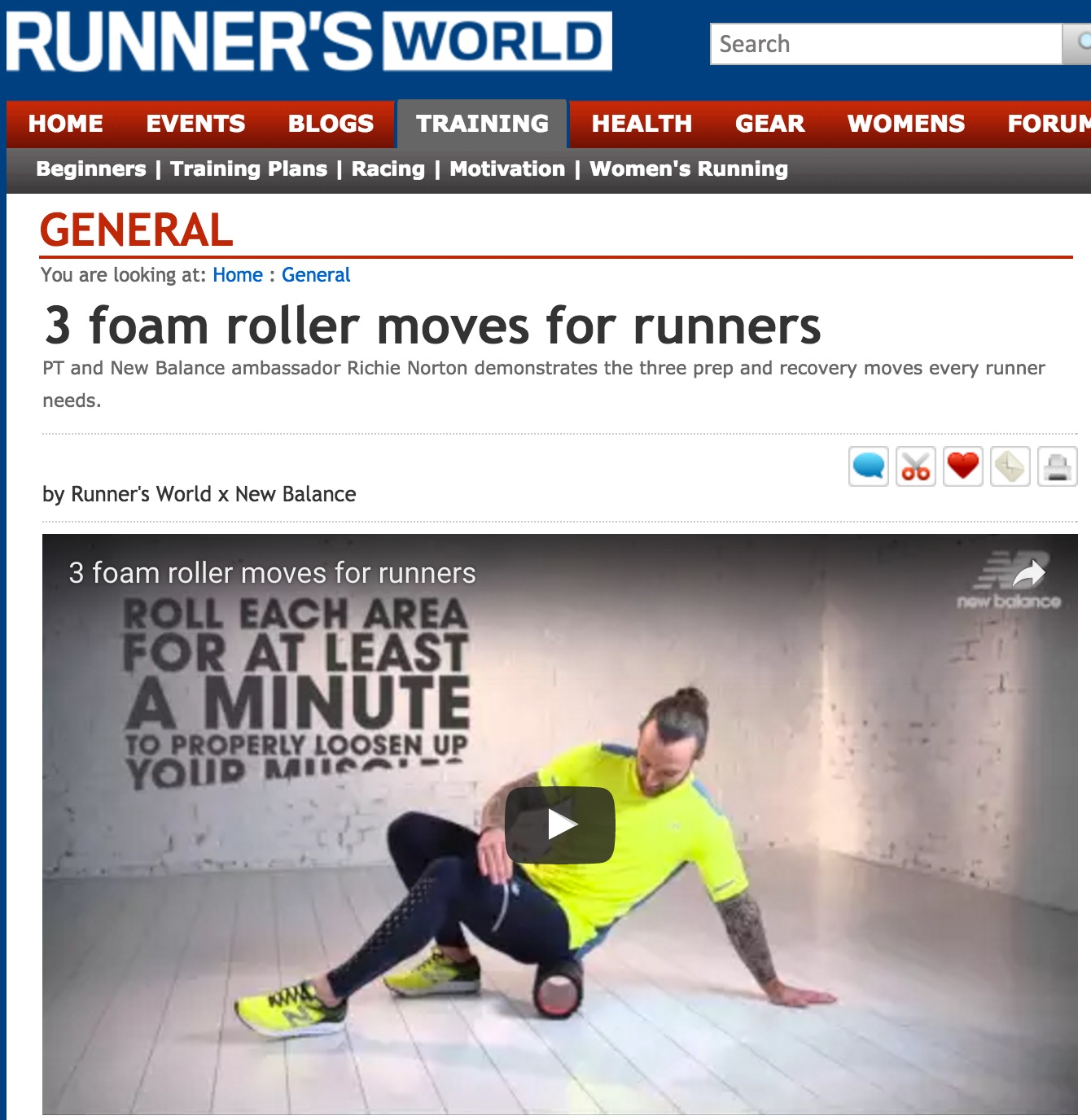 Click this picture for a link to my 3 Foam Roller Moves for Runners