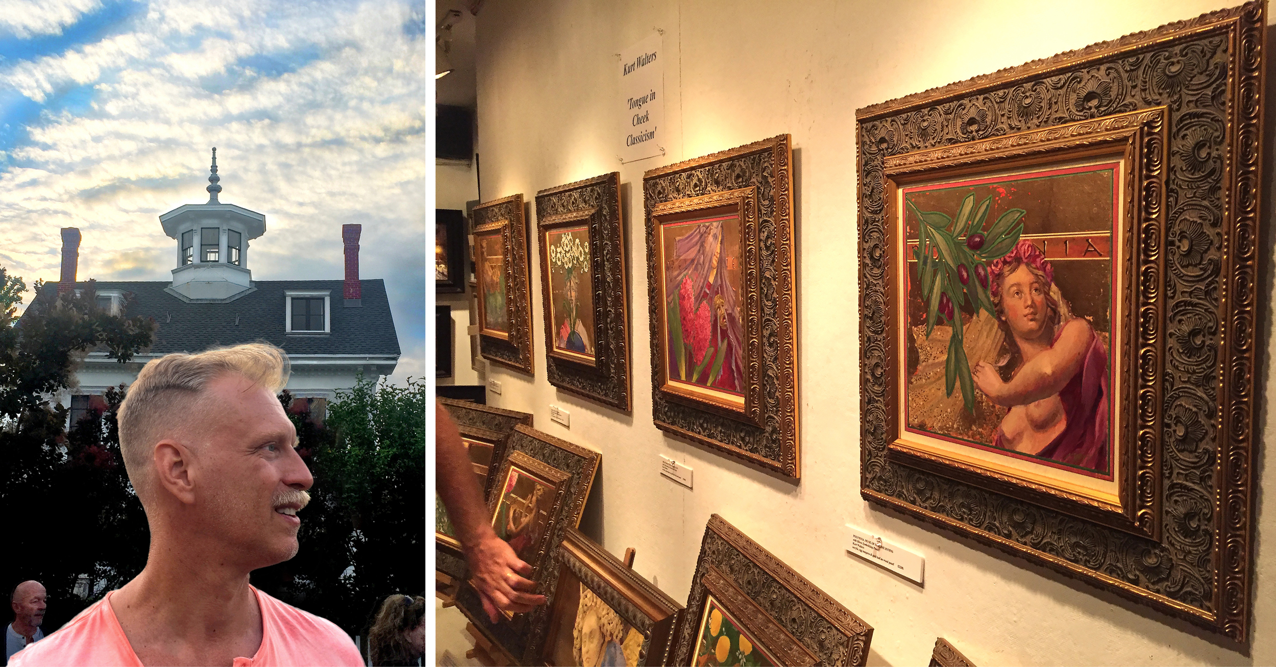 Always a Fun Mix:    New England style, along with art galleries that show a variety of artists, including me!