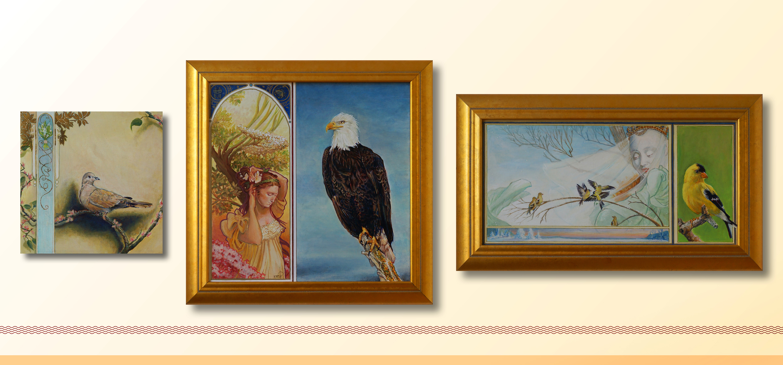 Do you know about my Medieval Bird Series?   Yes, each bird relates to a month. More on that later!