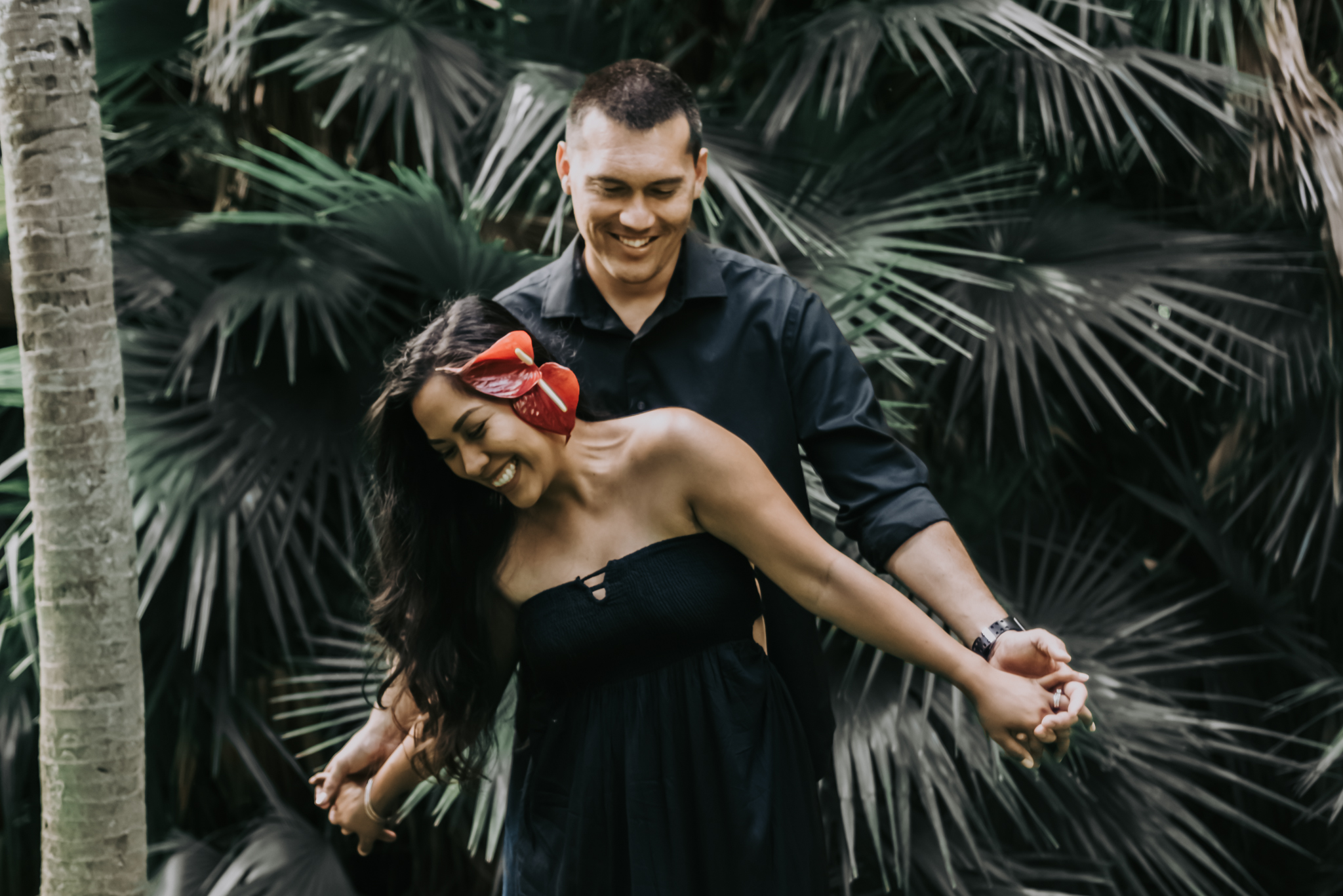 michele + josh | botanical gardens | oahu lifestyle photographer