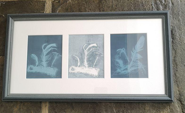 Framed monoprint by Liz Fay