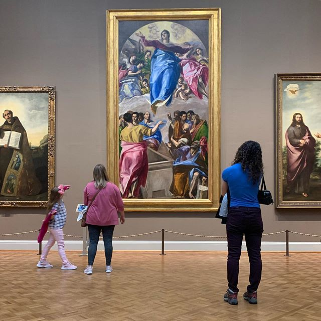 "1577. El Greco's ""The Assumption of the Virgin""  #art #fineart #elgreco #artinstituteofchicago #artmuseum #chicago #greek #spanish #photography #pink #blue #renaissance #painting"