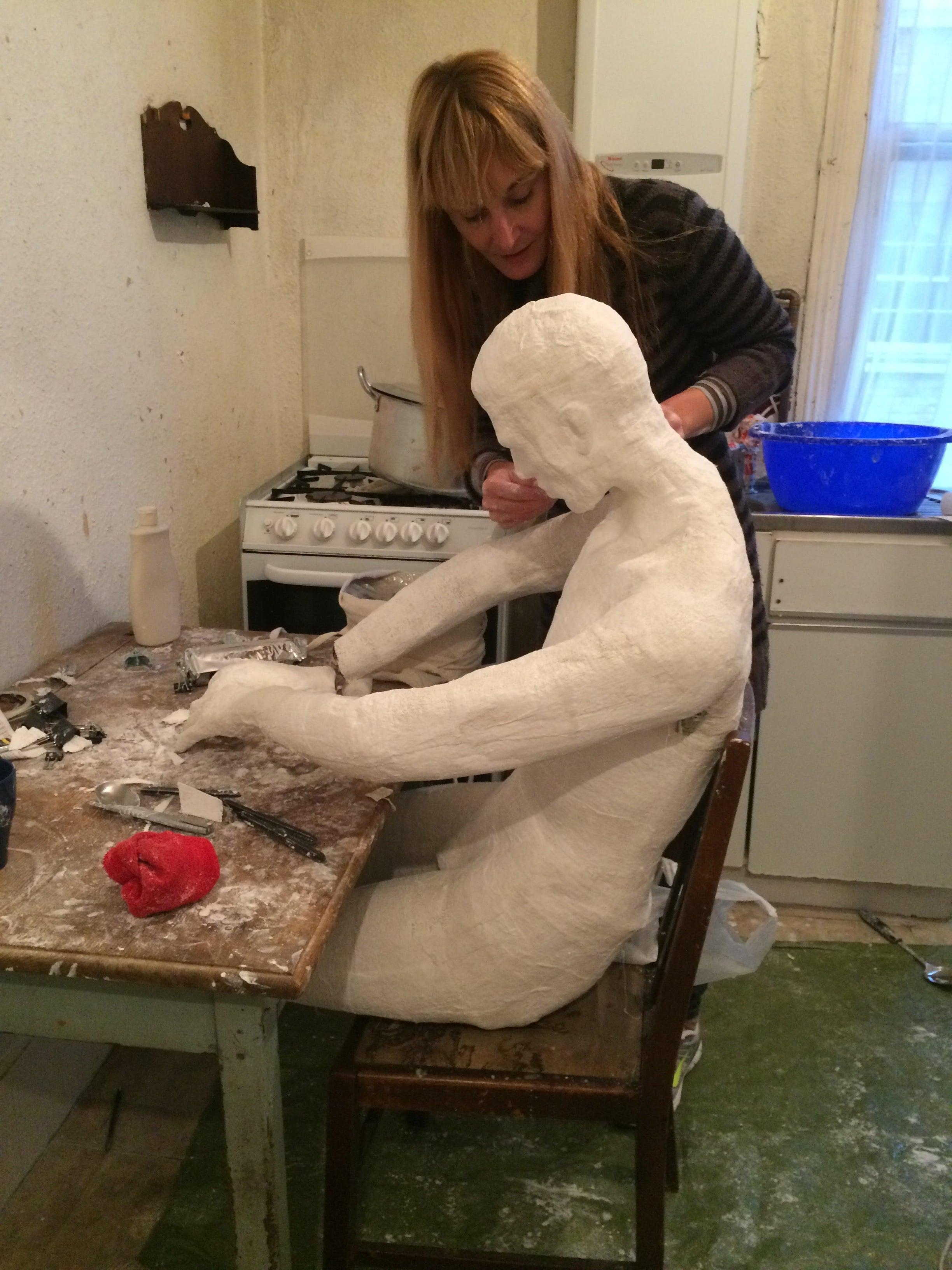 Susana Sanroman working away!