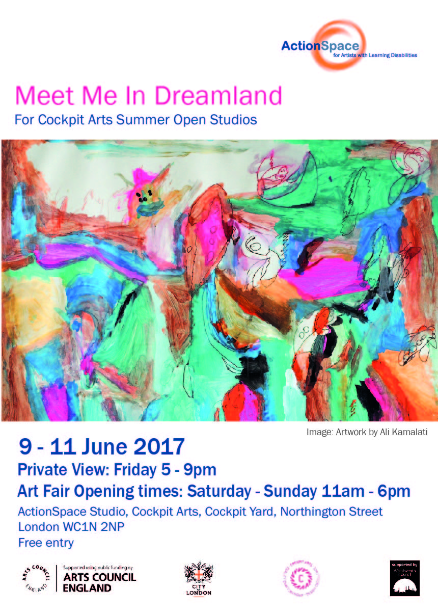 "-  Opening soon! Meet Me In Dreamland is curated by Cornelia Marland for ActionSpace. Dates: 9 – 11 June 2017Private View: Friday 9th 5 – 9pmOpening Times: Saturday – Sunday 11am – 6pmLocation: Cockpit Arts, Cockpit Yard, Northington Street, London WC1N 2NPFREE entry ""I dream my painting and then I paint my dream."" wrote Vincent Van Gogh and it is true that dreams have always fascinated mankind and offered endless inspiration to many artists from Salvador Dali's surreal paintings to Yayoi Kusama's dream like installations. The concept of exploring the subconscious and alternative realities continues to provide ample opportunities for artists to express their unique inner vision."