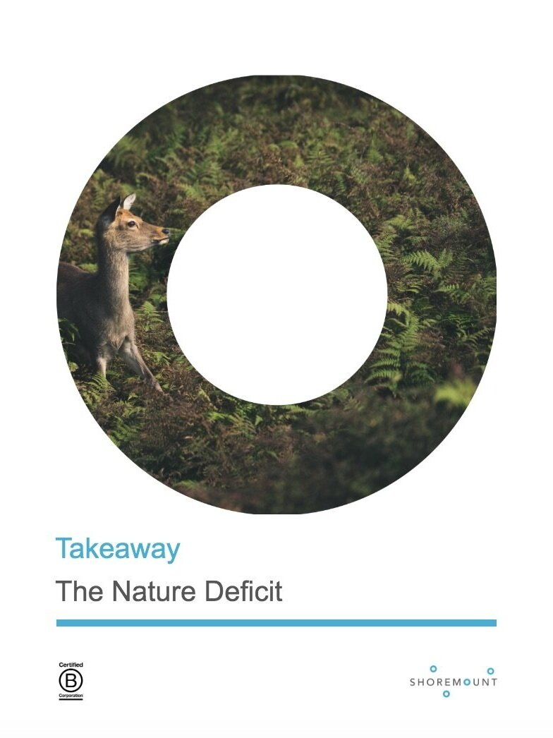 The Nature Deficit - Contemplating the cost of the gap that exists between humanity and nature.