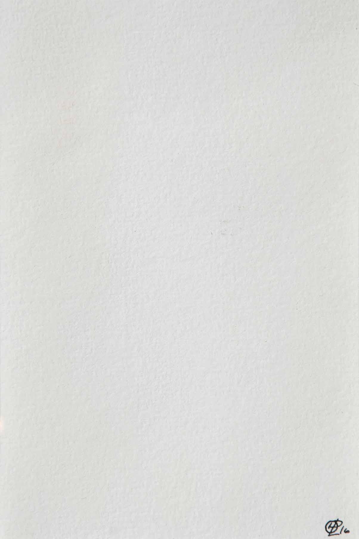 Helene Lundbye Petersen,     Absorbing Beginnings,   2016, Work on Paper, Watercolour, seawater from Greece, paper, 10.5 x 14.8 cm. ( Colour Spectrum of 11 Spaces - Greece Series 1/11)
