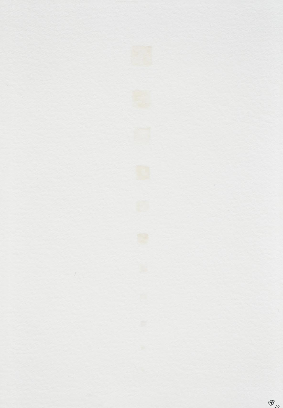 Helene Lundbye Petersen,   Graspable Beginning Appearing,   2016, Work on Paper, Watercolour, paper, 14.8 × 21 cm. ( Comprehension Studies   1/6)